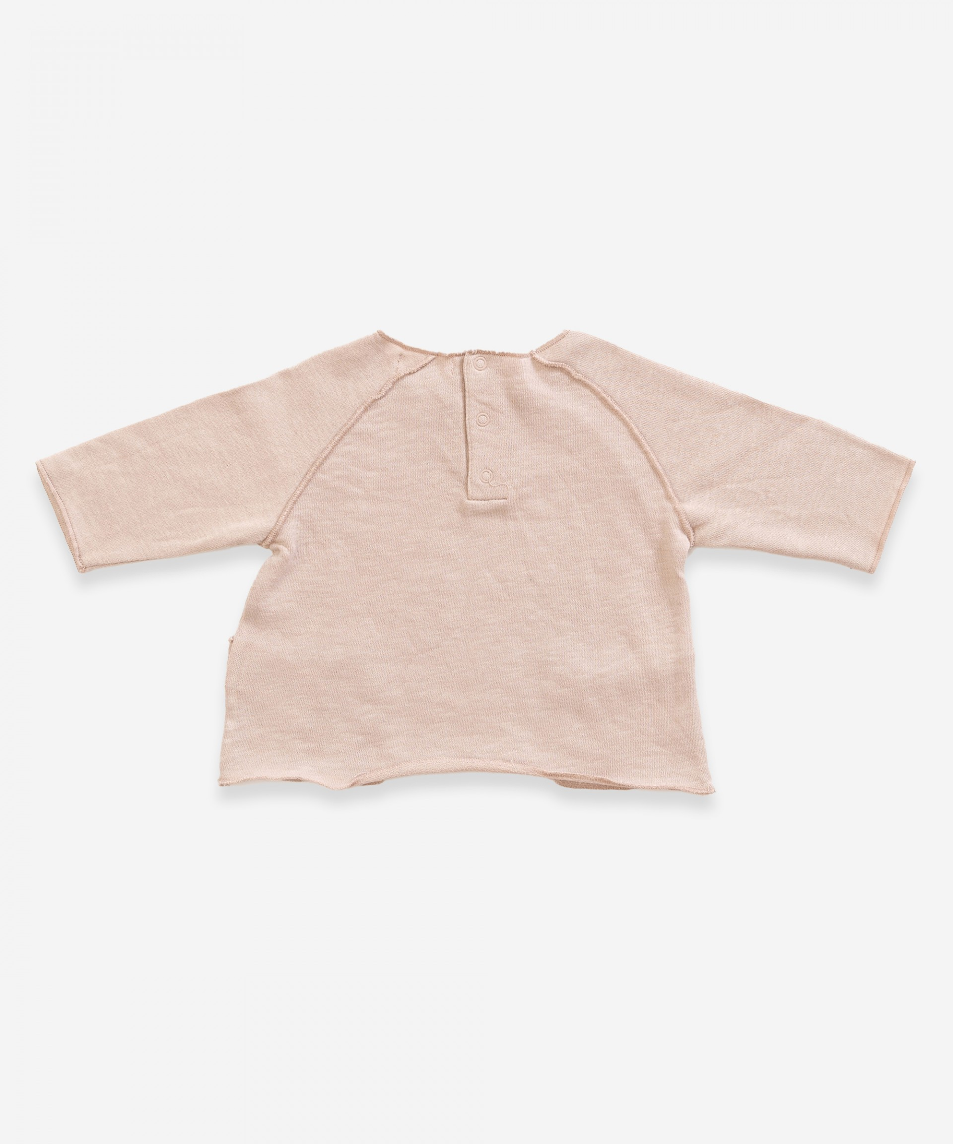Sweater in organic cotton with pockets | Weaving