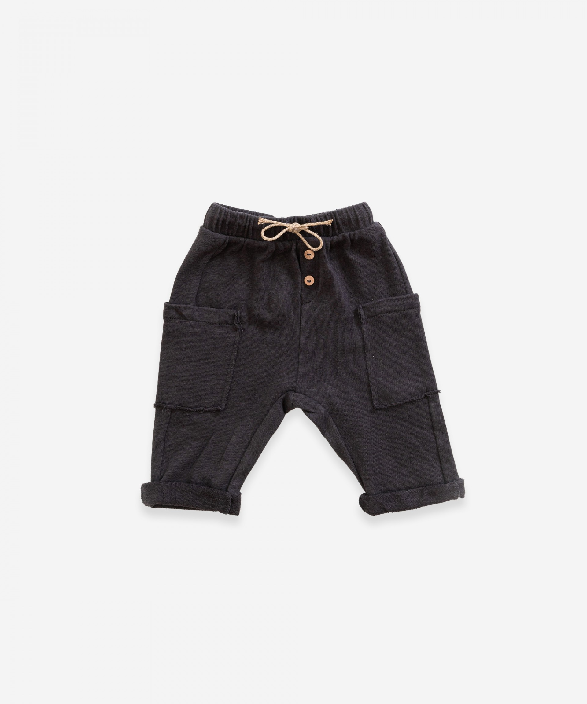 Shorts with side pockets in organic cotton | Weaving