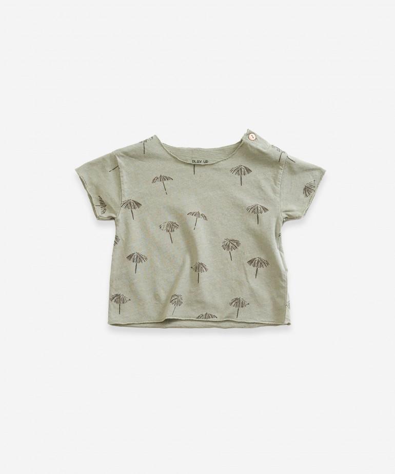 T-shirt com estampado de guarda-sol