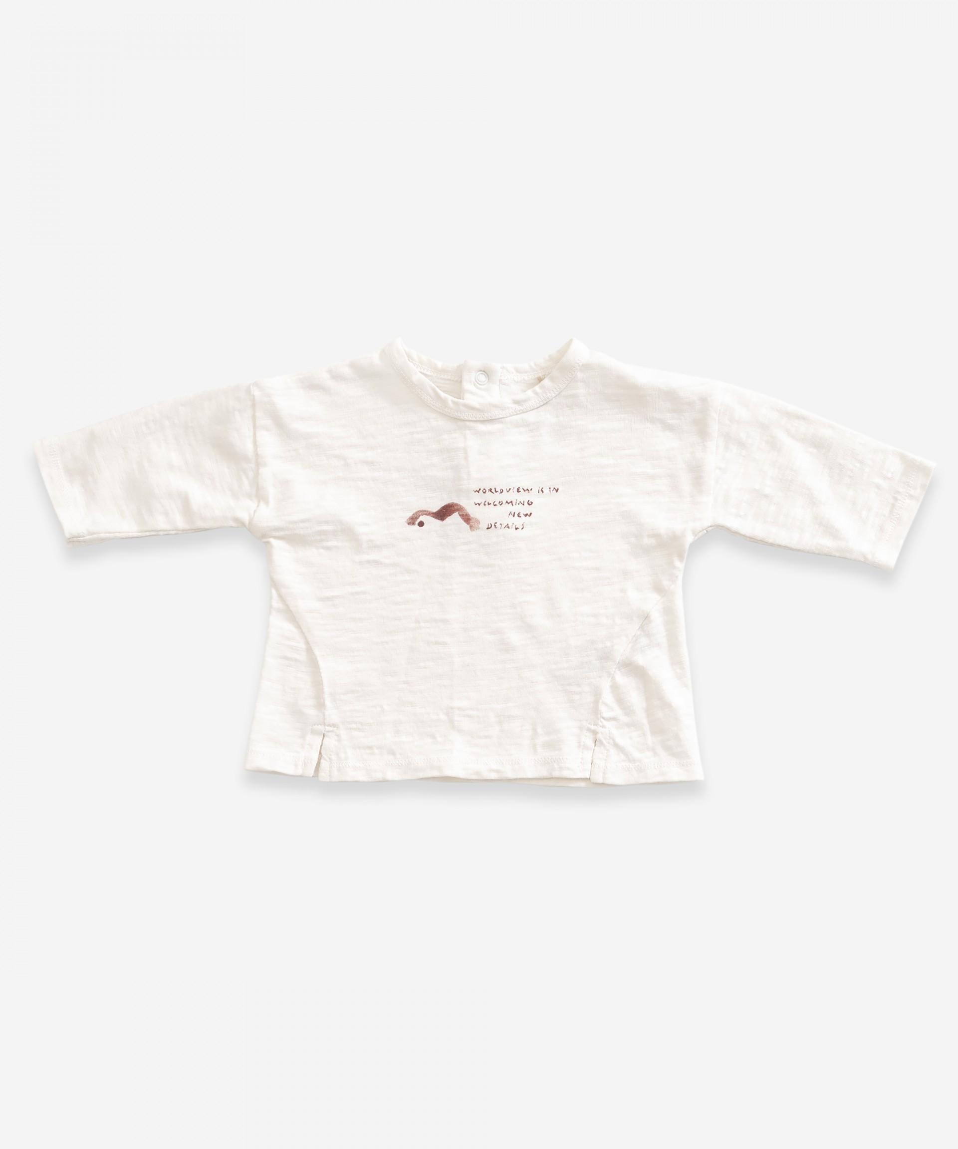 T-shirt a maniche lunghe in cotone biologico | Weaving