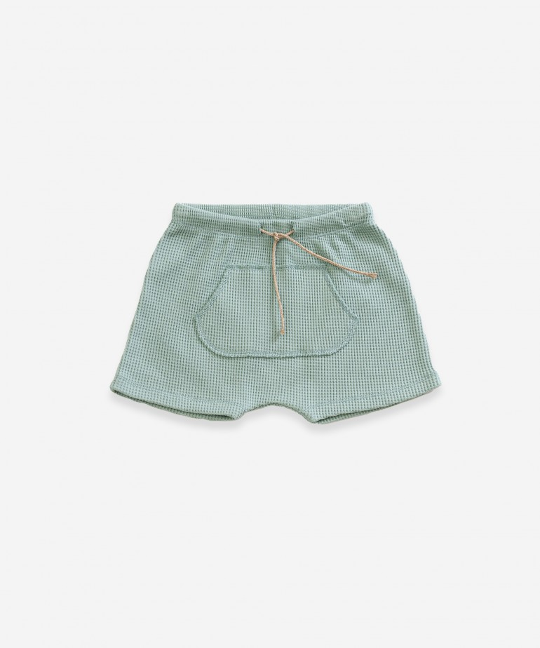 Shorts with kangaroo pocket