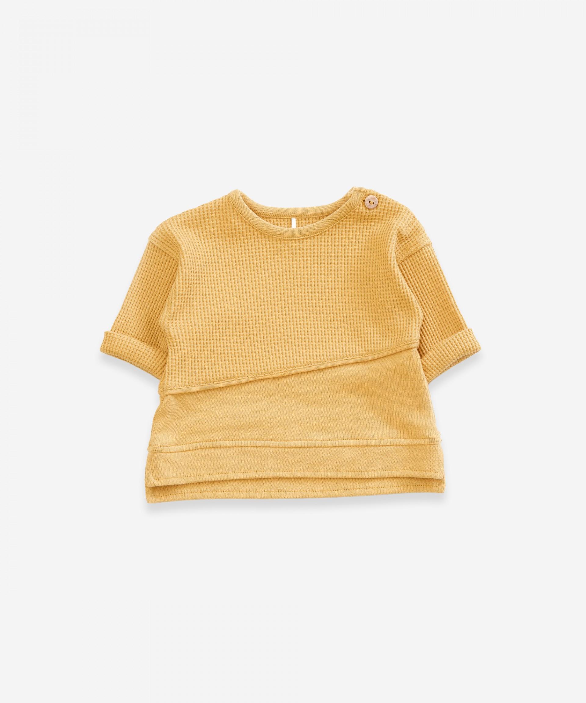 Sweater in organic cotton | Weaving