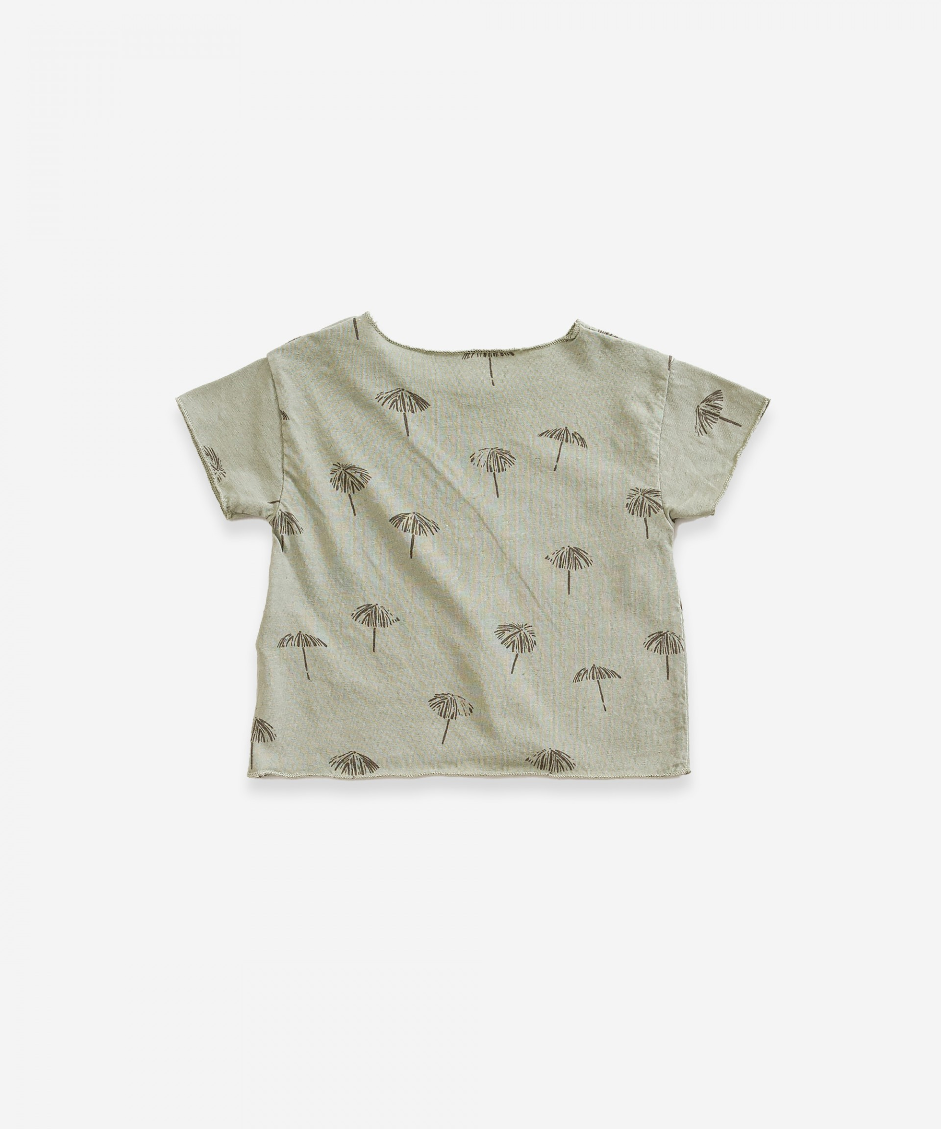 T-shirt in organic cotton and linen | Weaving