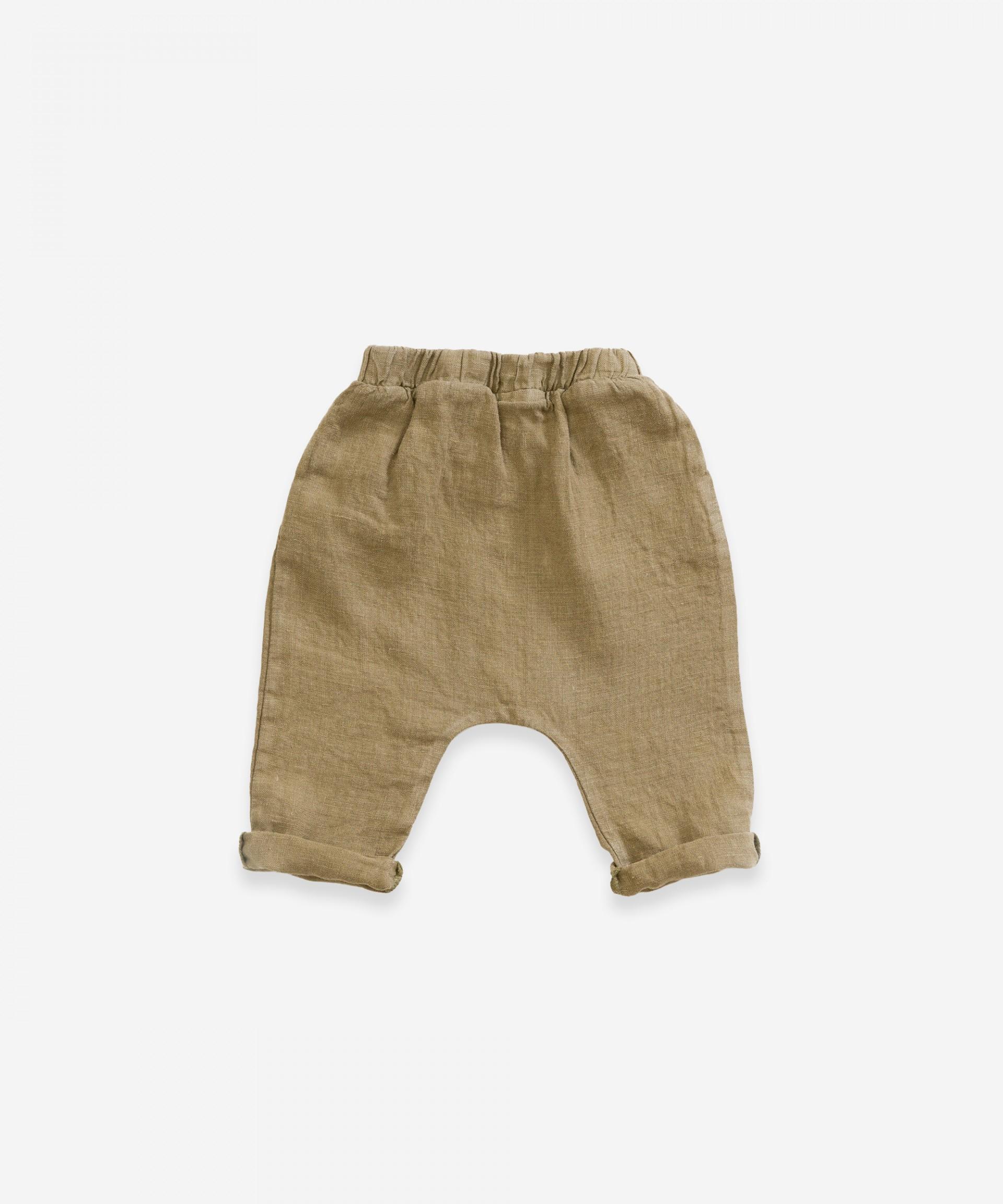 Pantalón de lino con cordón | Weaving