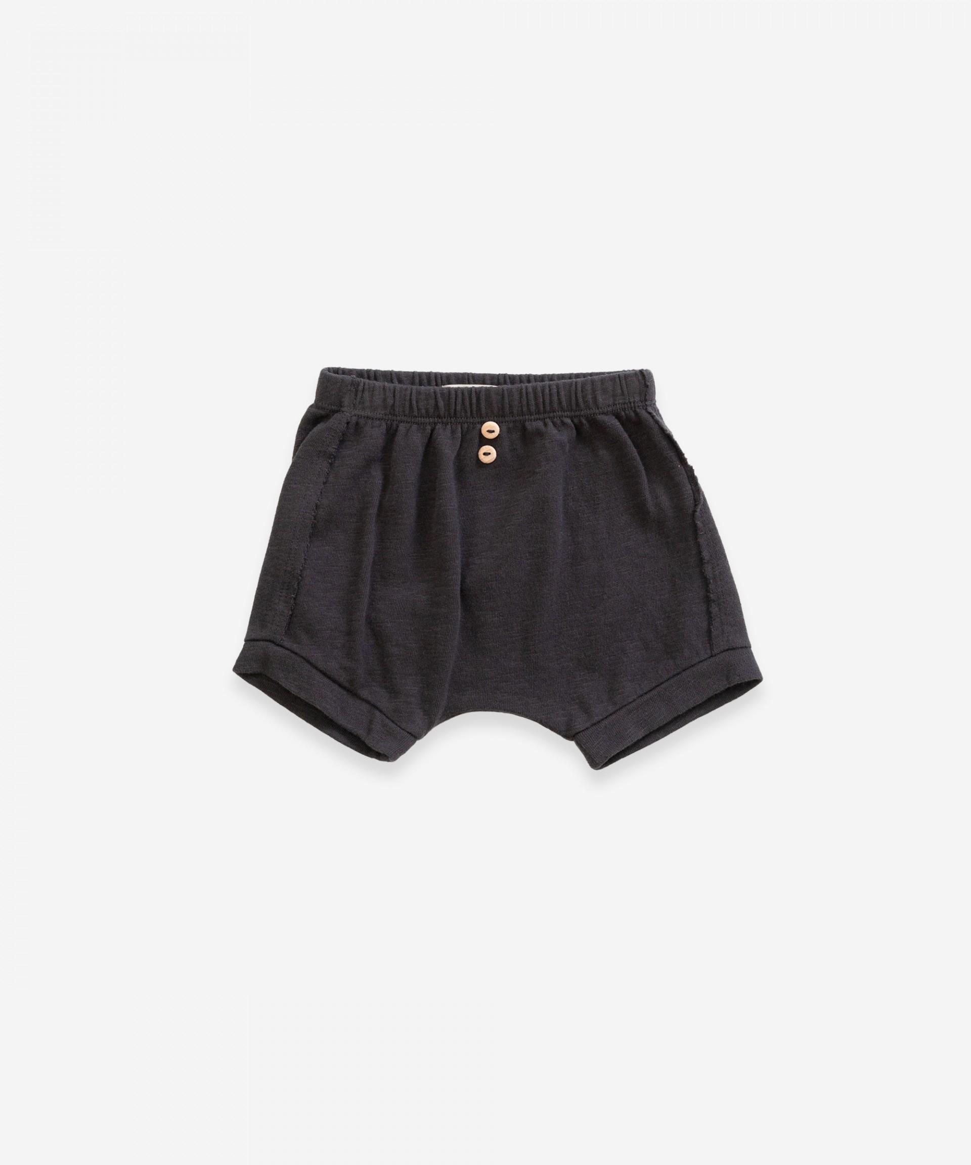 Pantalón corto de algodón orgánico con bolsillo | Weaving
