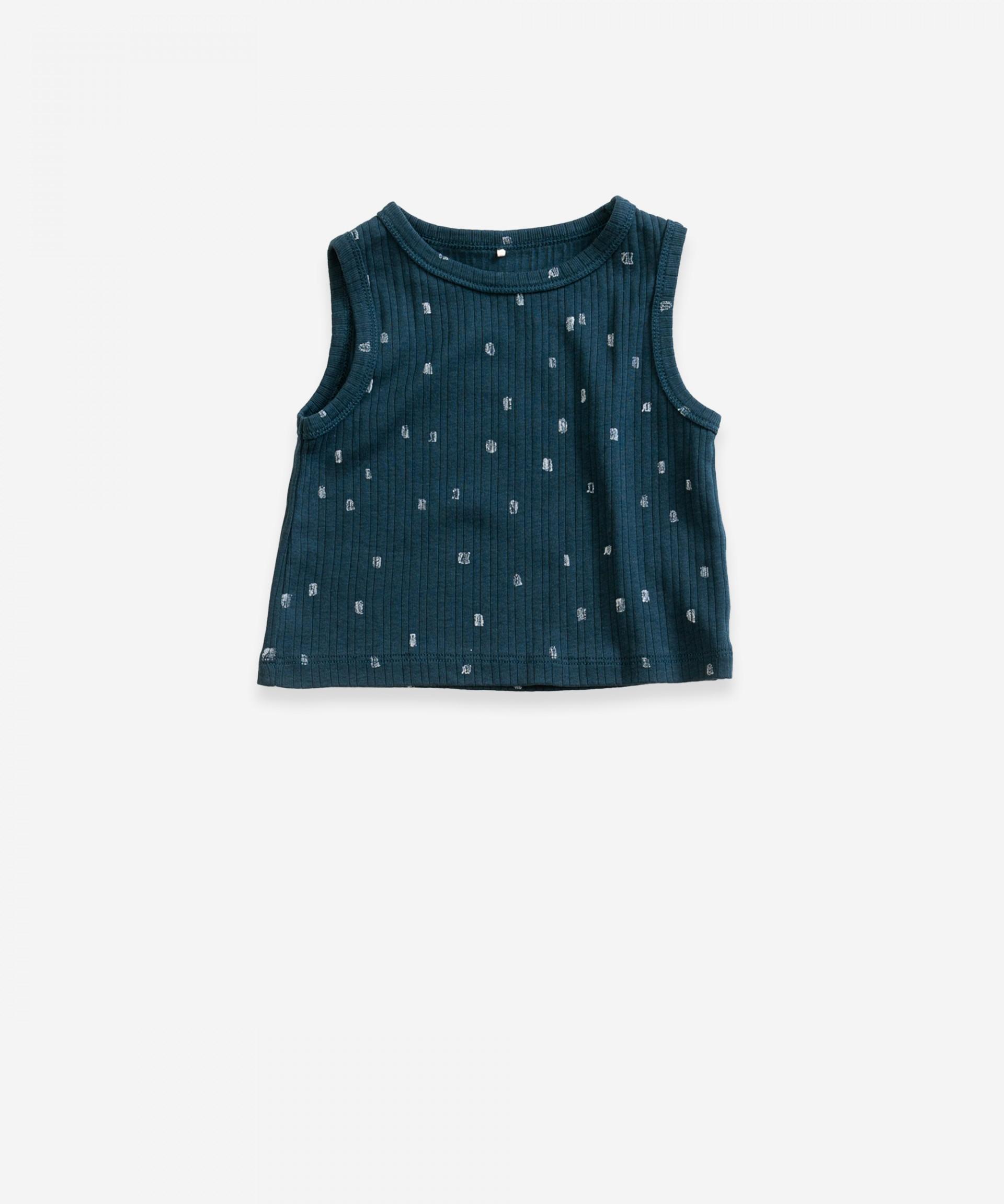 Conjunto de camiseta interior sin mangas y braguitas | Weaving