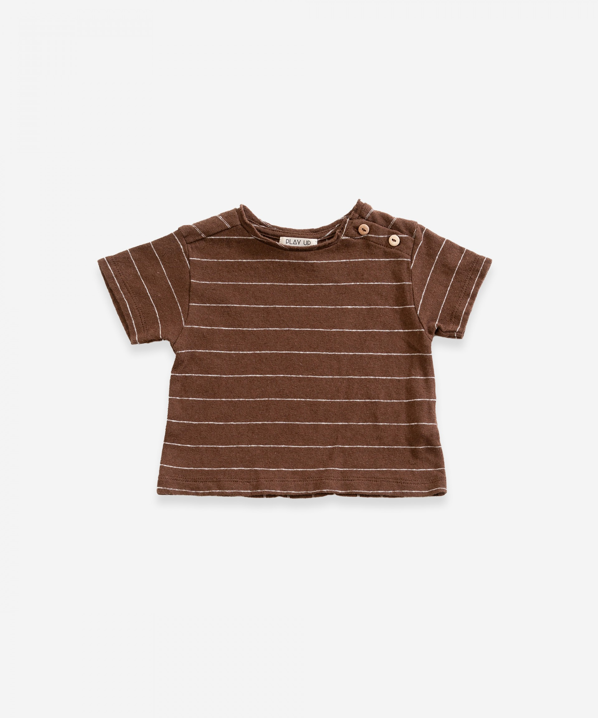 T-shirt a righe in cotone biologico | Weaving