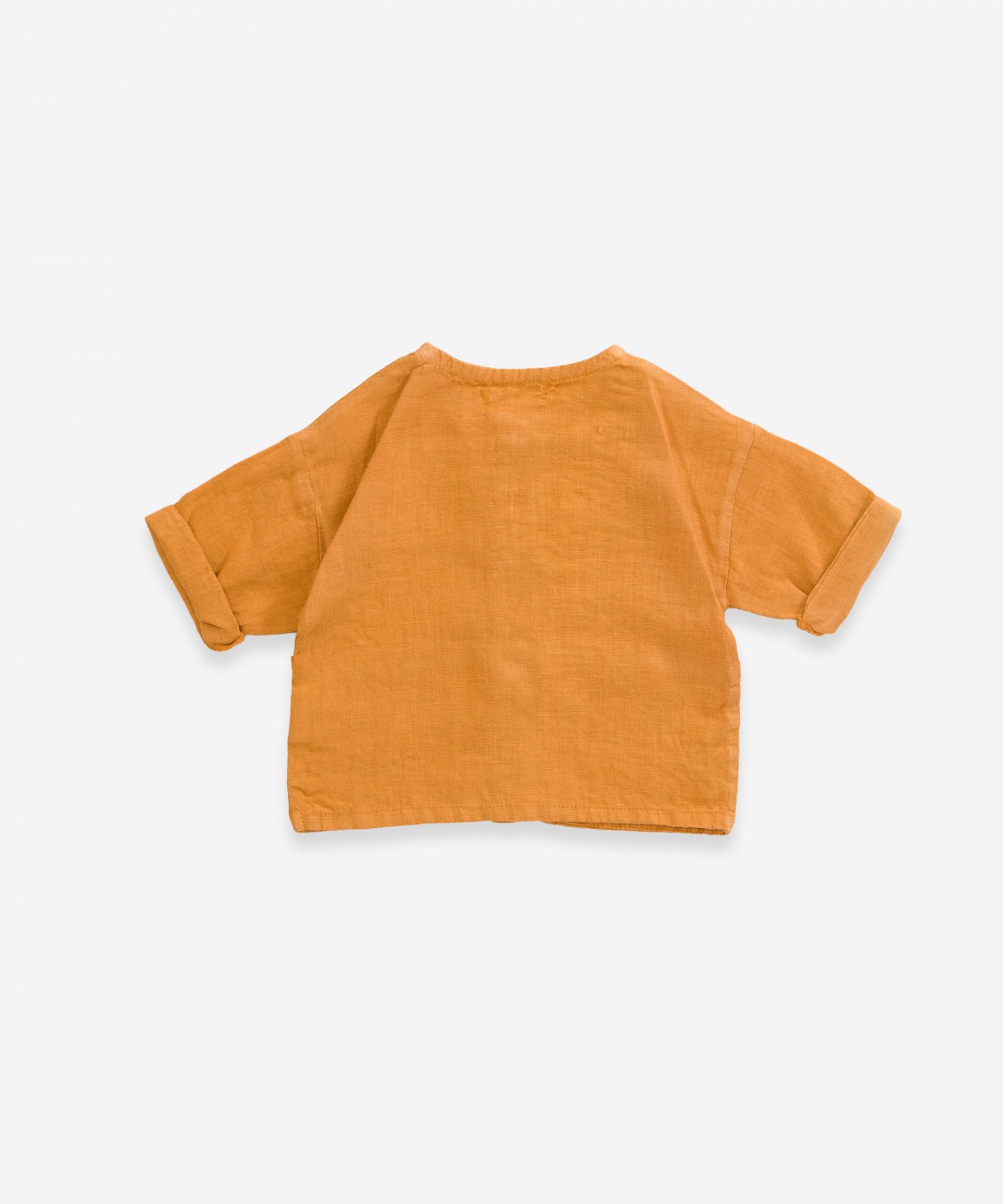 Camicia in lino con tasche | Weaving
