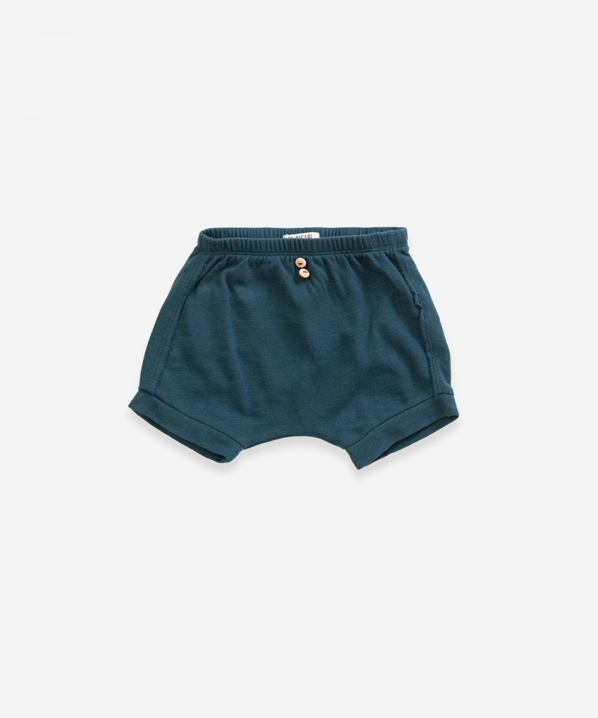 Shorts with pocket in organic cotton | Weaving