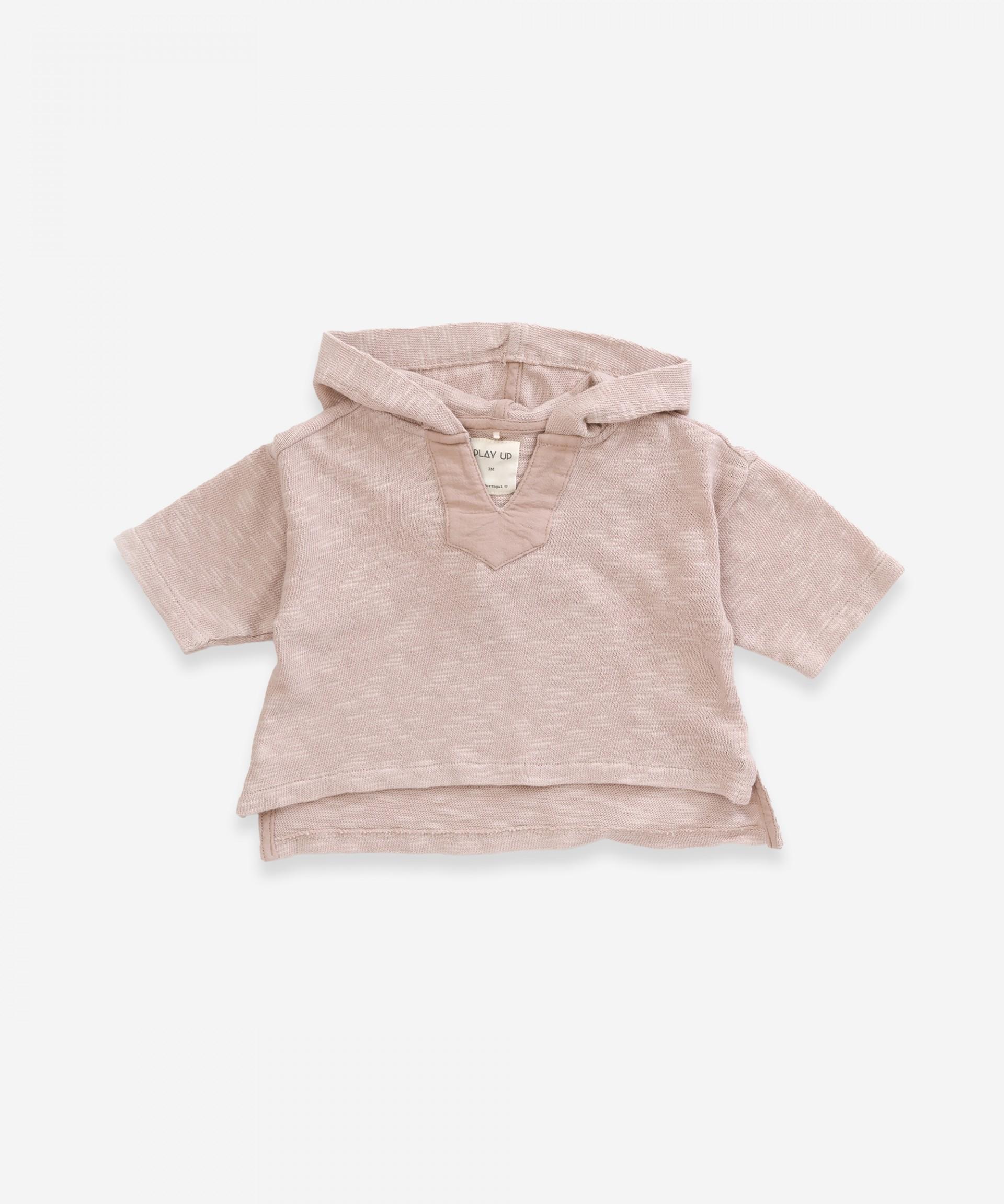 Jersey de algodón orgánico con capucha | Weaving