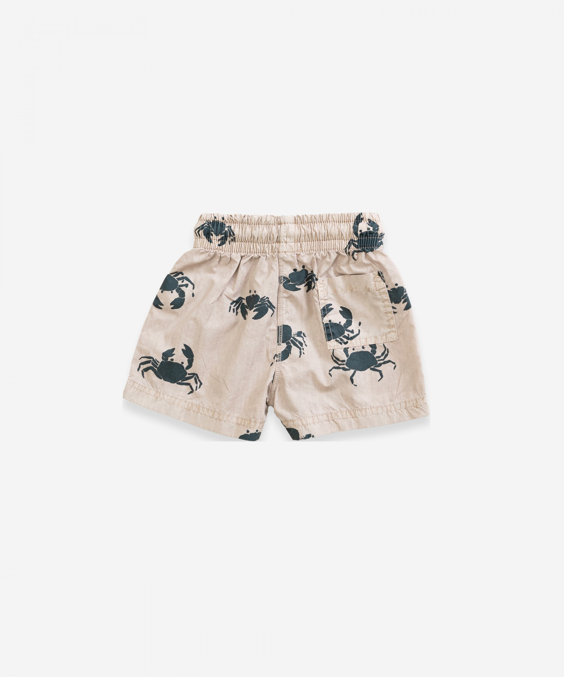 Swimming shorts with crab print | Weaving