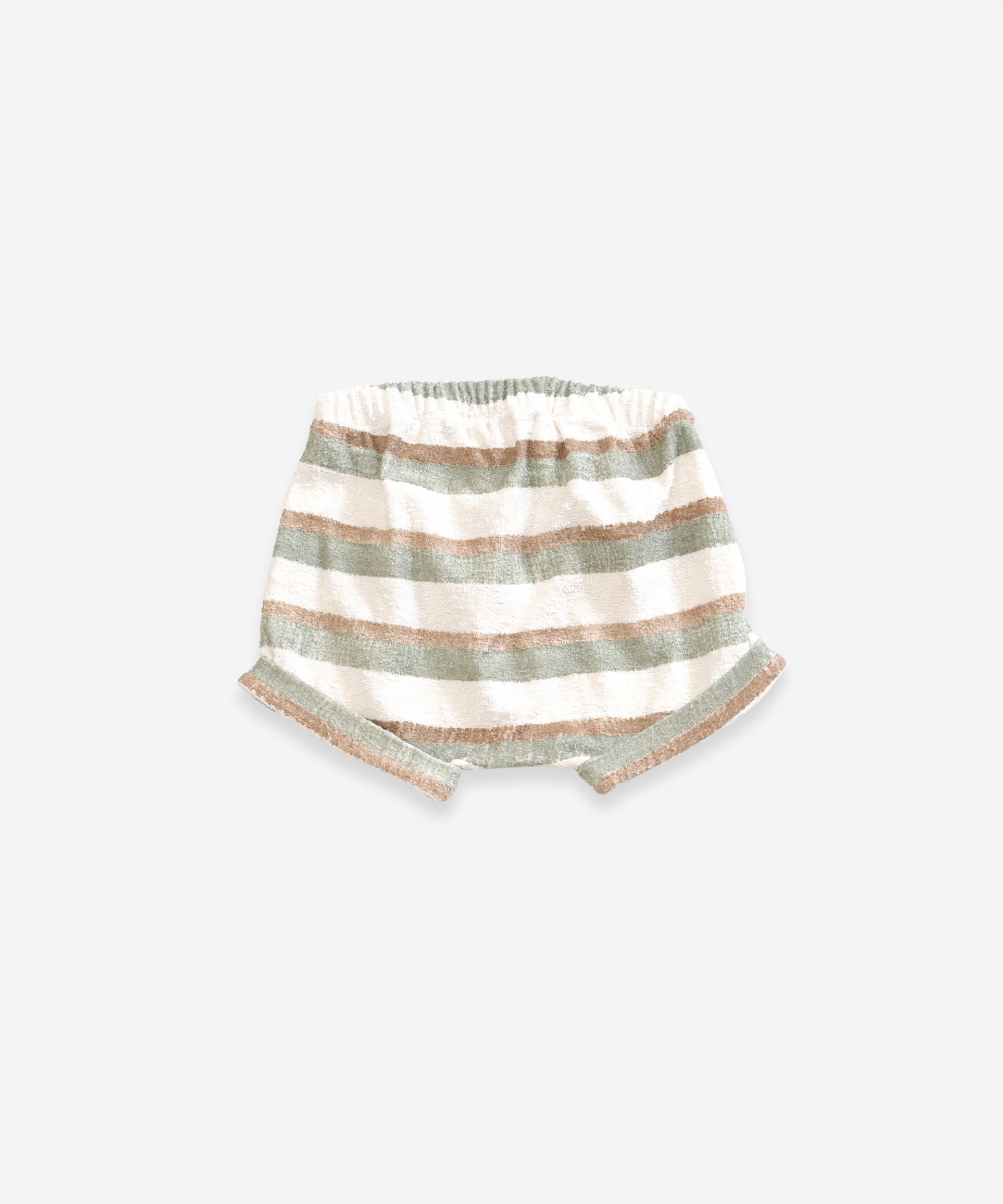 Striped shorts in organic cotton | Weaving