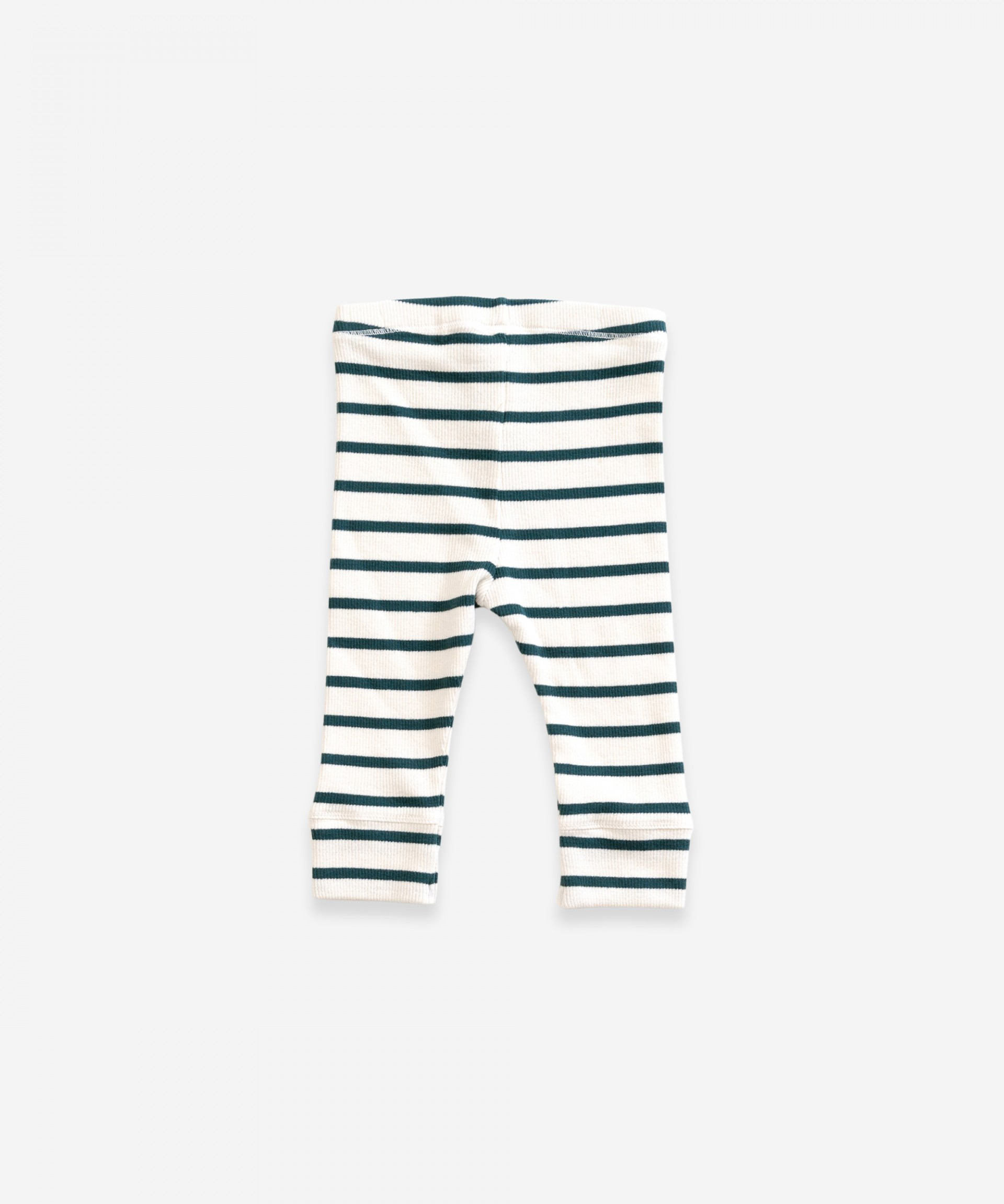 Striped leggings in organic cotton | Weaving