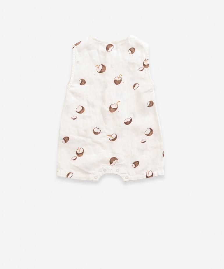 Jumpsuit with coconut print