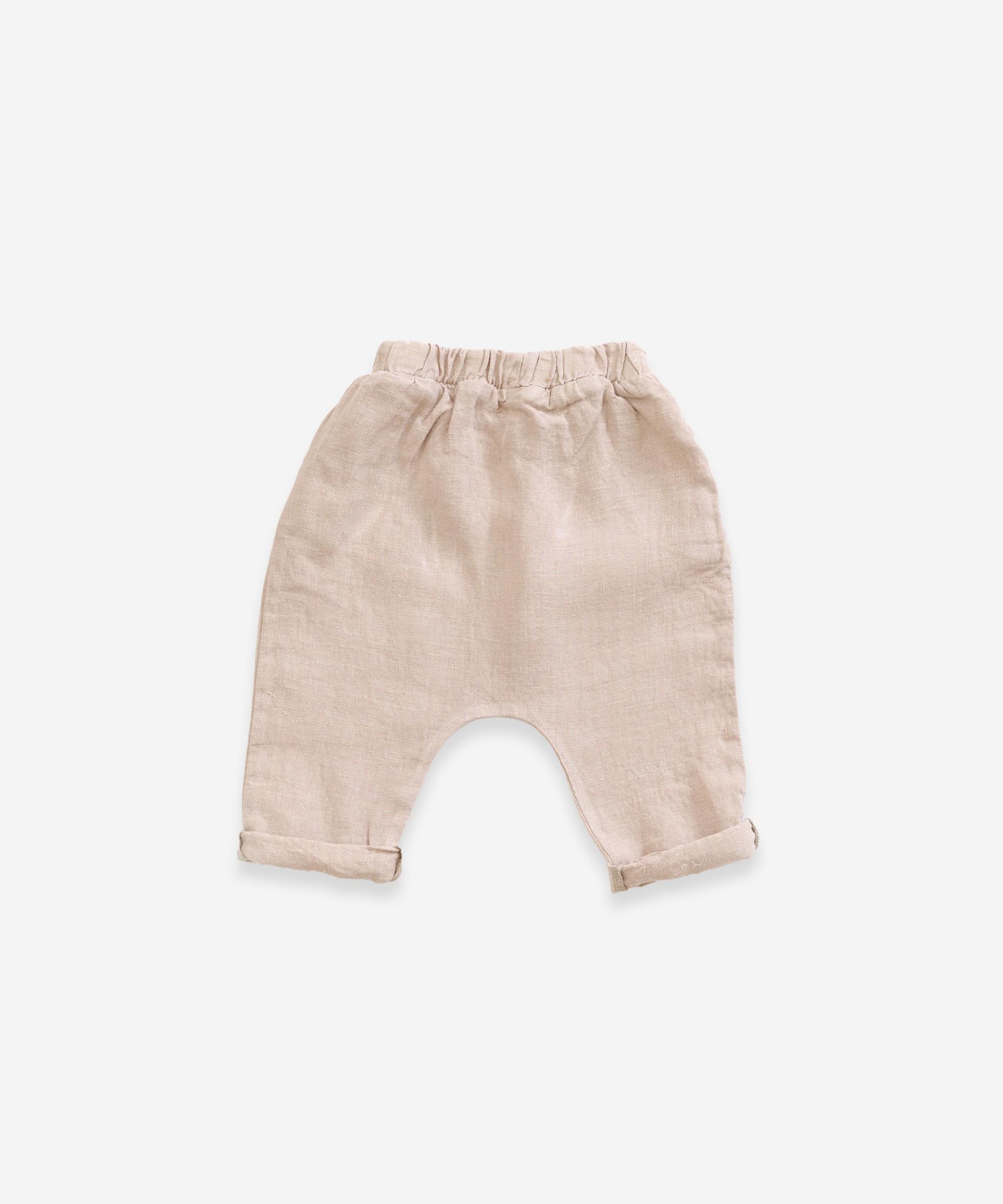 Pantaloni di lino con cordino | Weaving