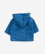 Denim jacket with pockets   Weaving