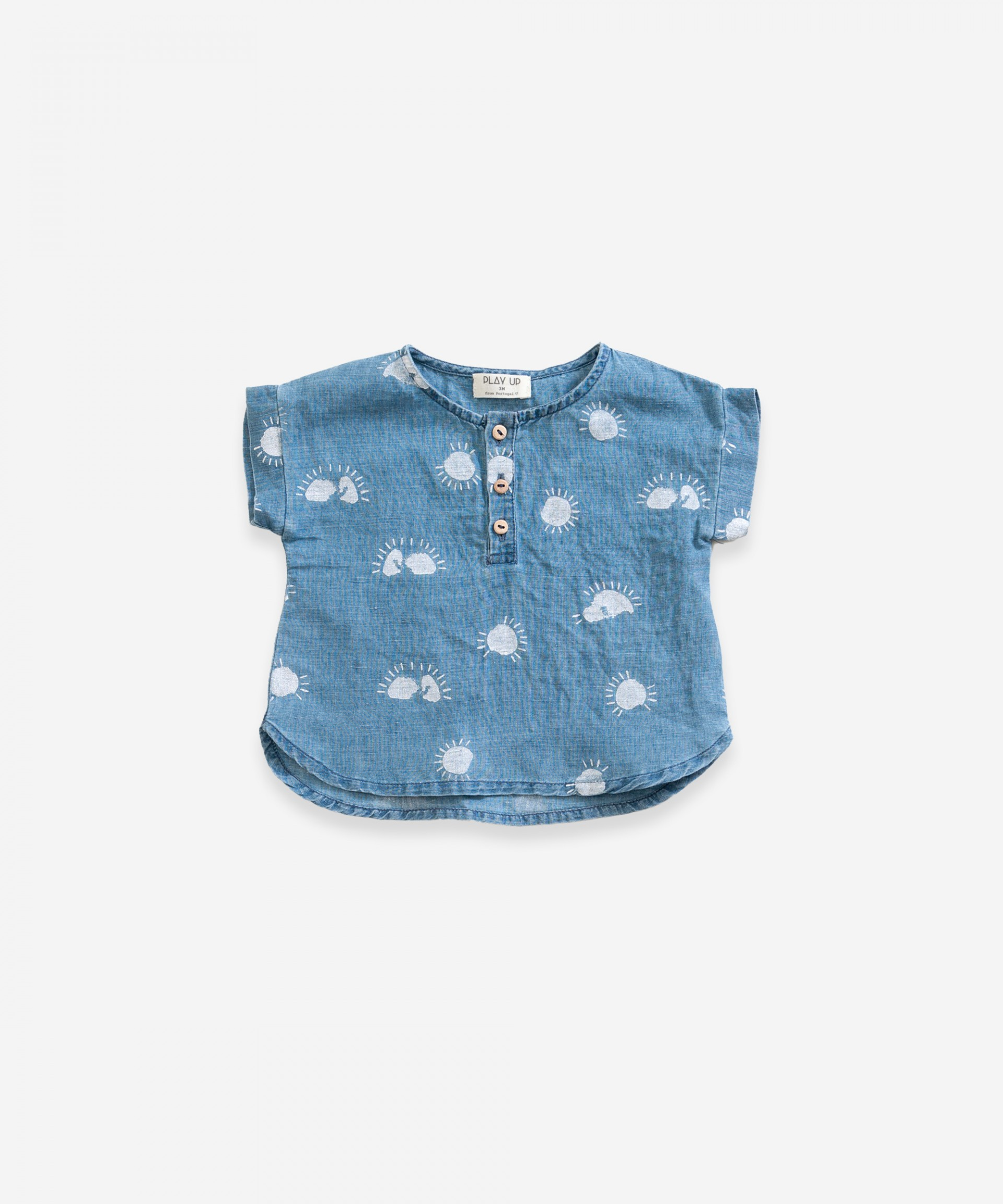 Linen shirt with print | Weaving