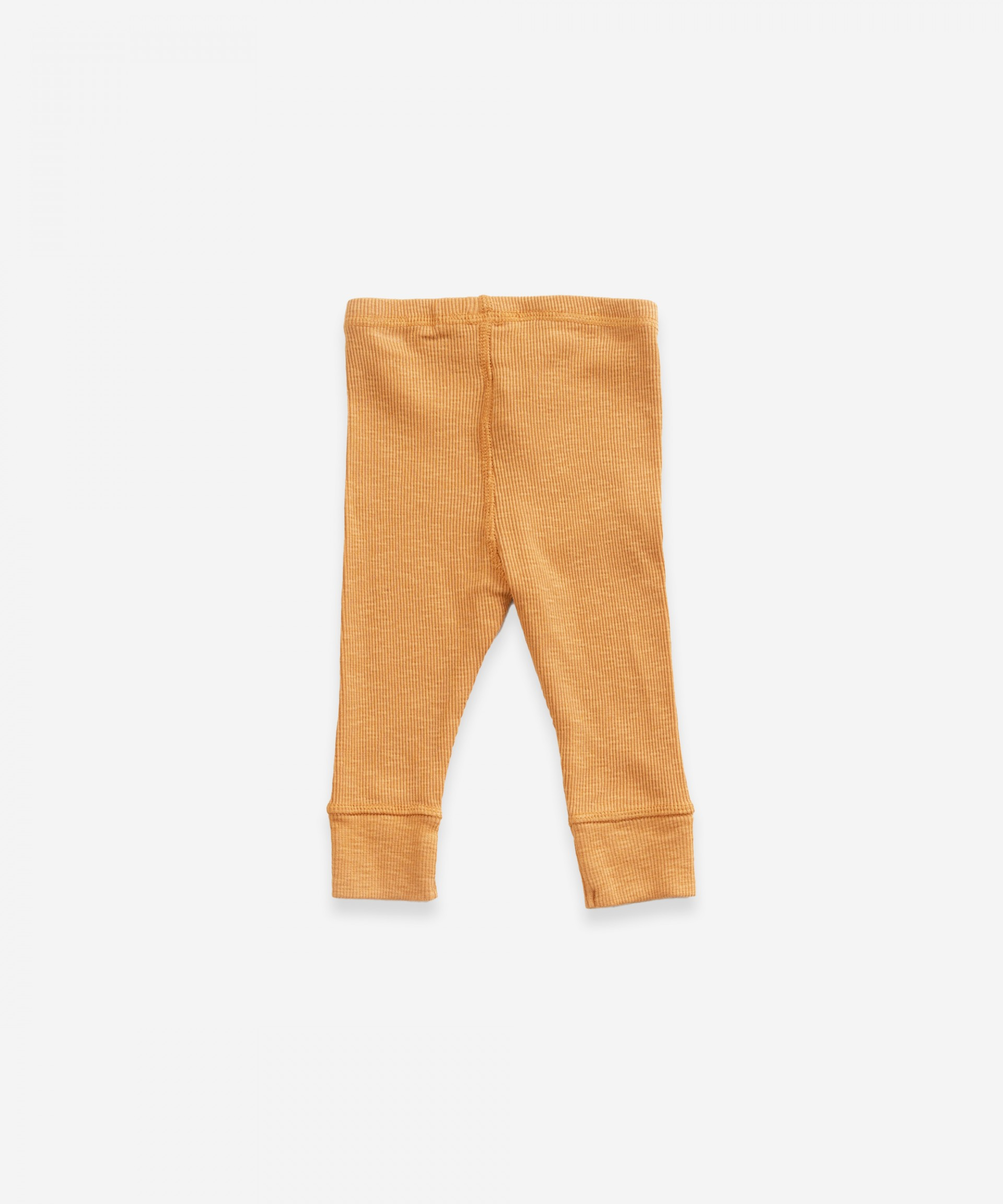 Leggings with elastic cuffs in organic cotton | Weaving