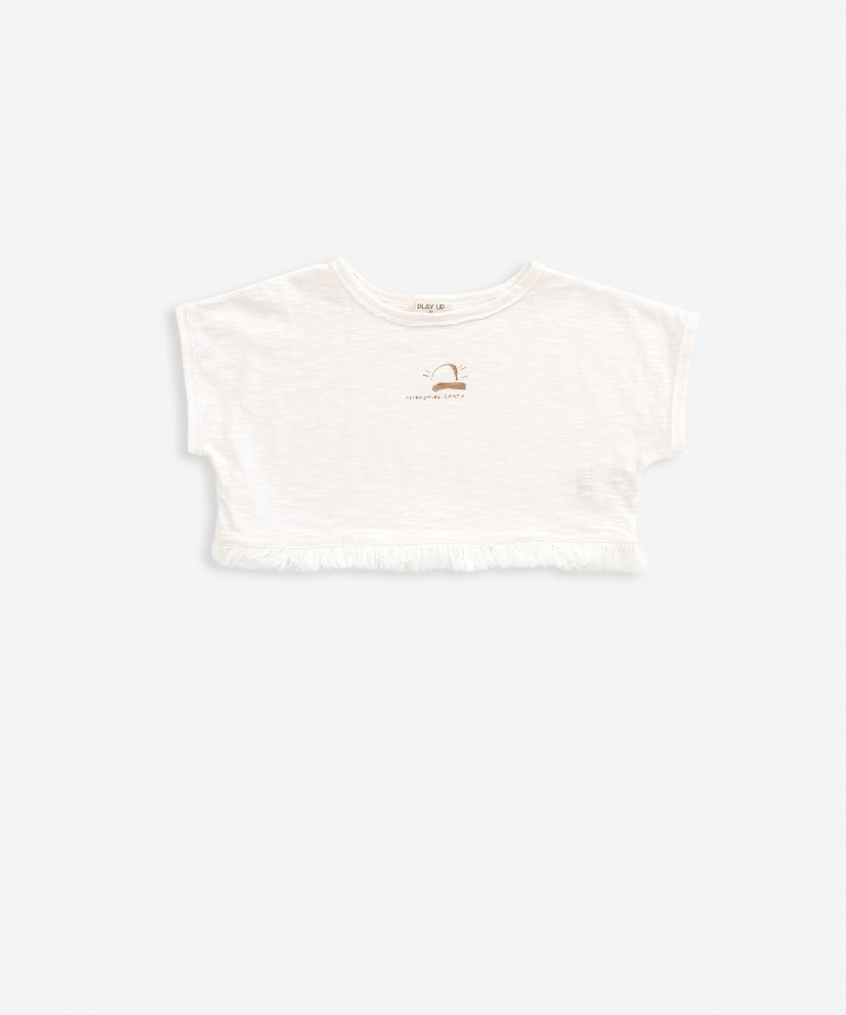 Camiseta corta a rayas