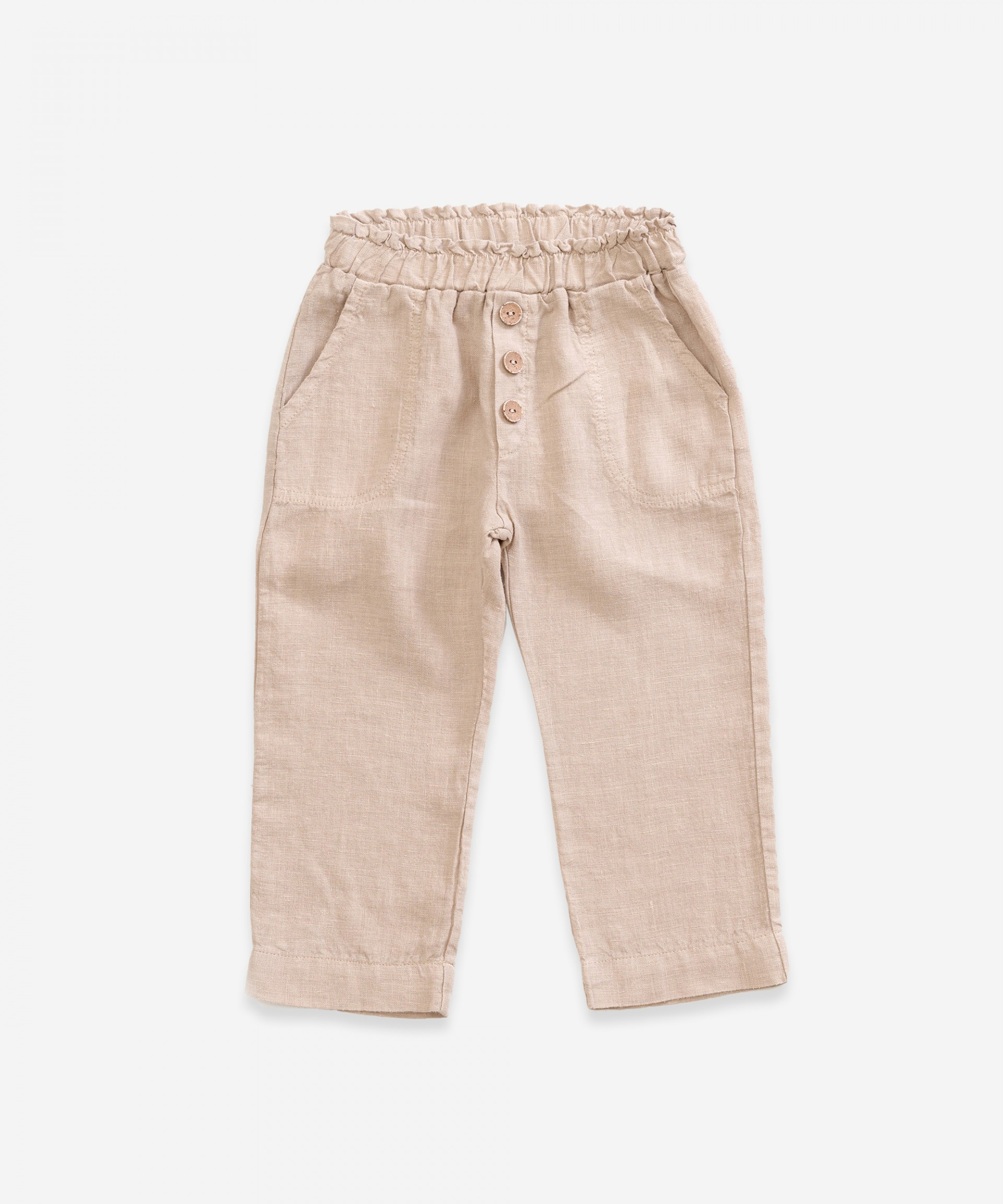 Linen trousers with pockets | Weaving