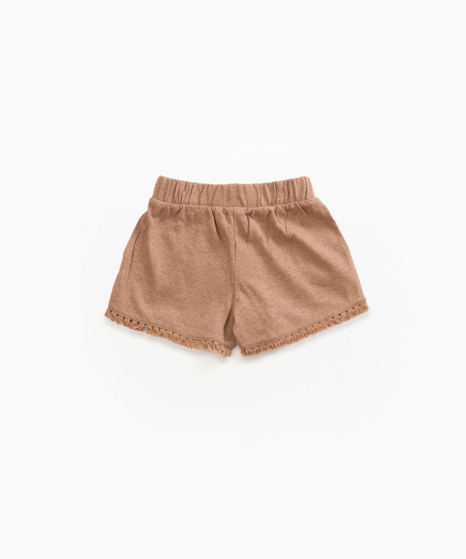 Pantalón corto de algodón orgánico y lino | Weaving