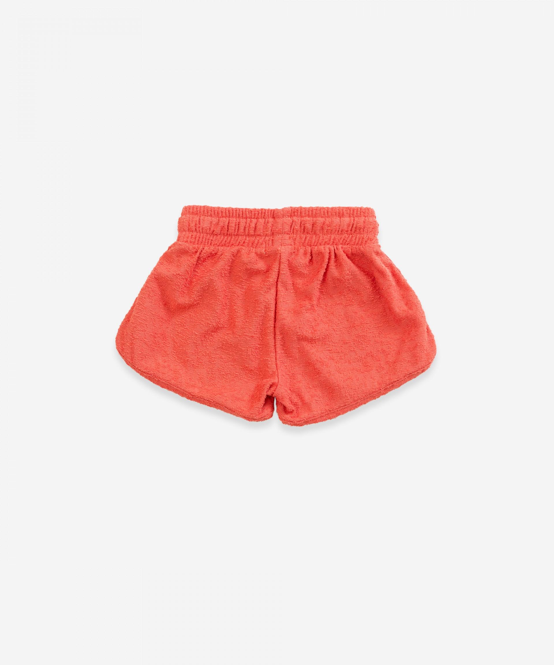 Textured cotton shorts | Weaving