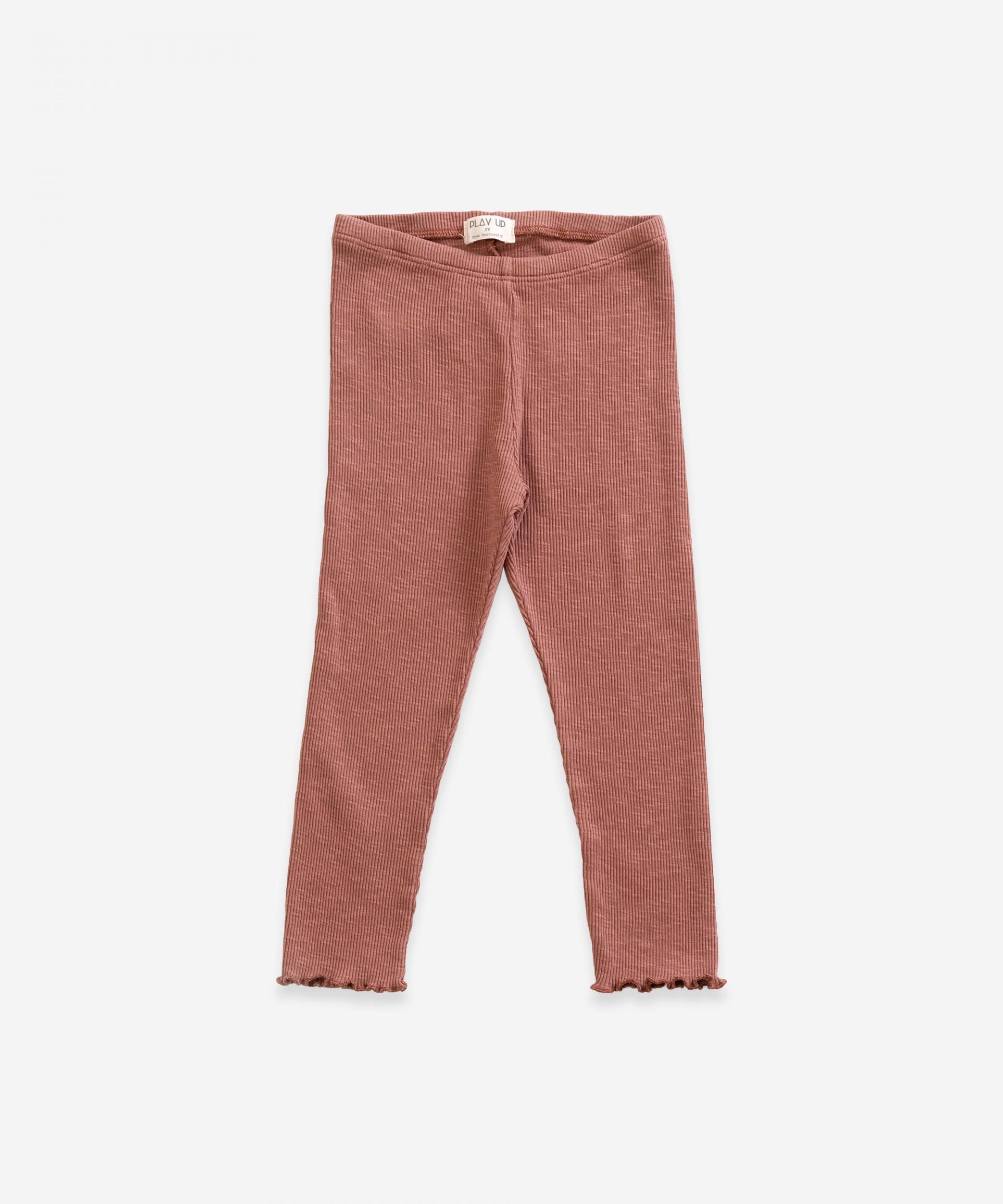 Legging de malha com cintura elástica | Weaving
