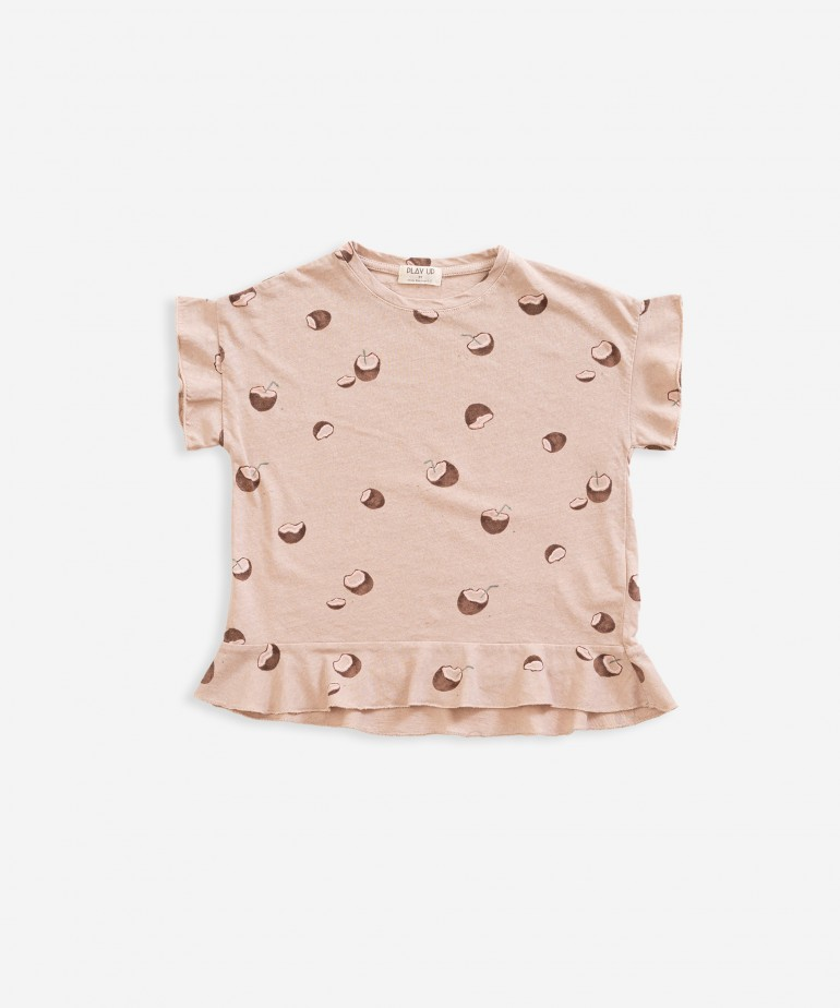 T-shirt with coconut print