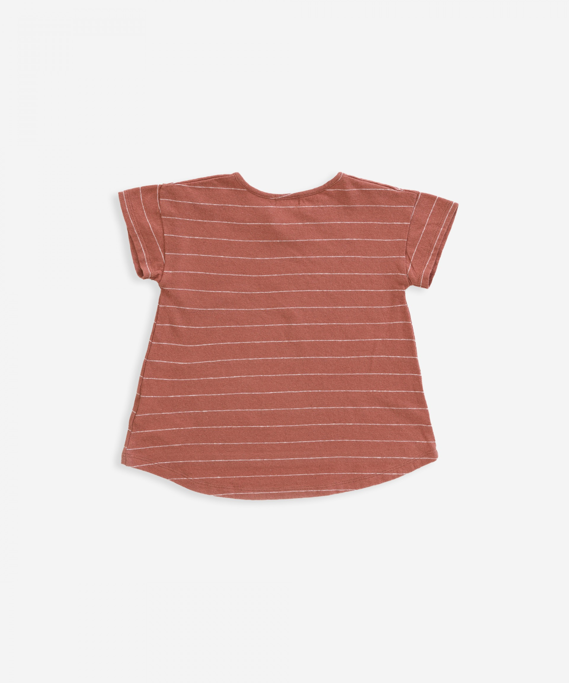 T-shirt in cotton-linen with stripes | Weaving