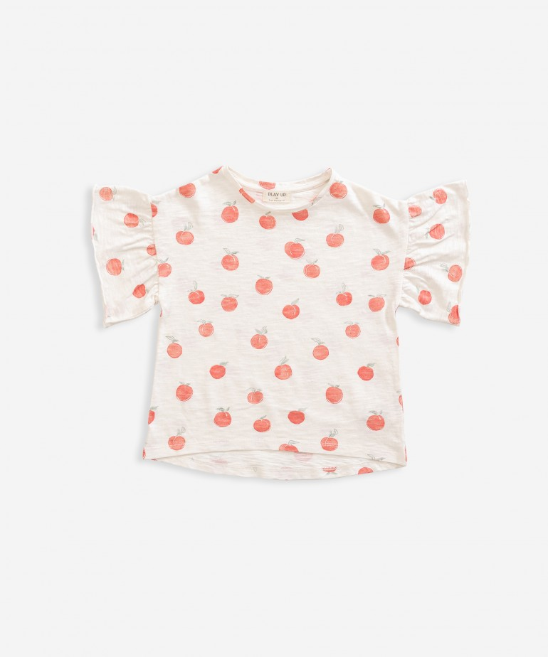 T-shirt with peach print