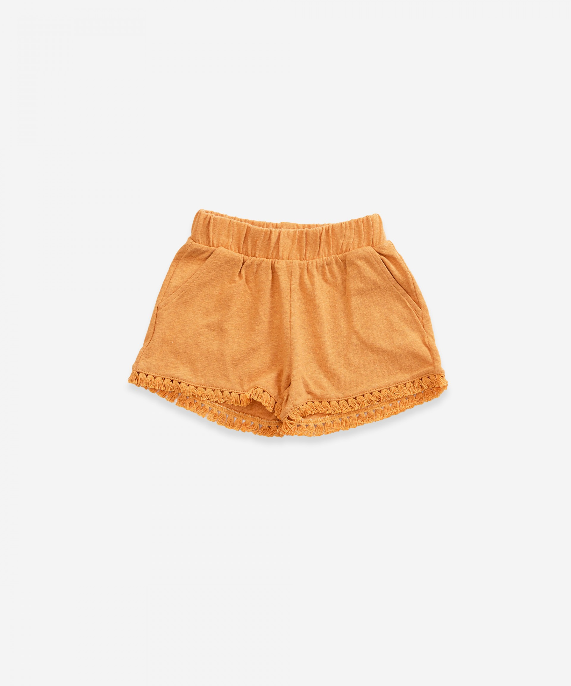 Shorts in organic cotton and linen | Weaving