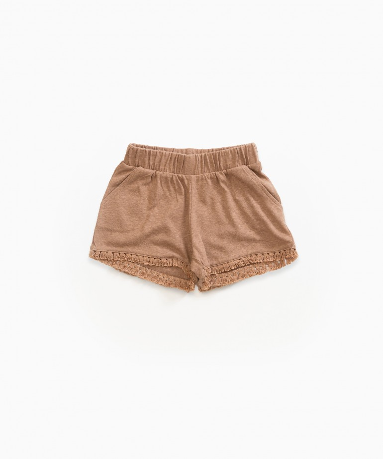 Shorts with fringe