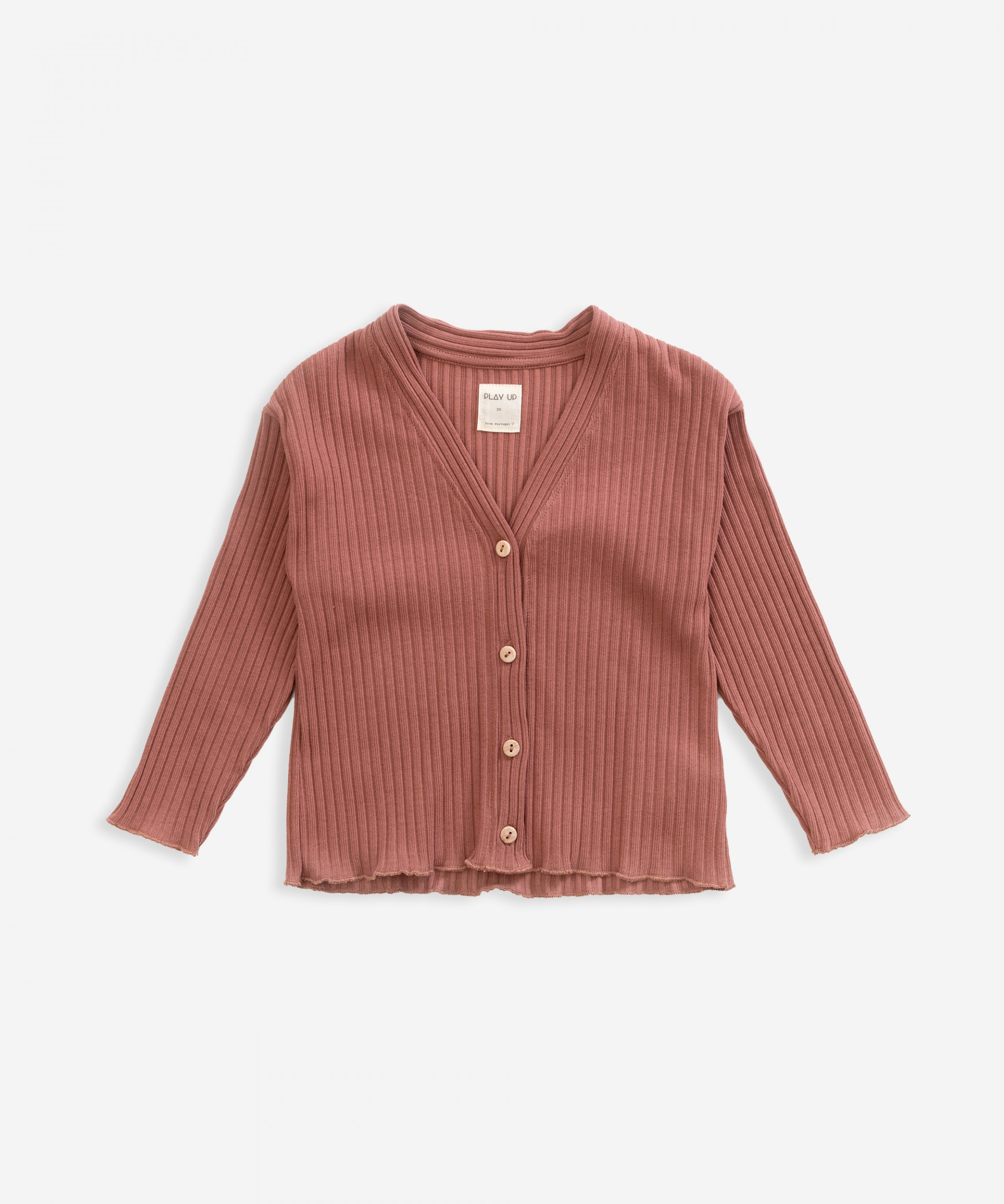 Cardigan with frill | Weaving