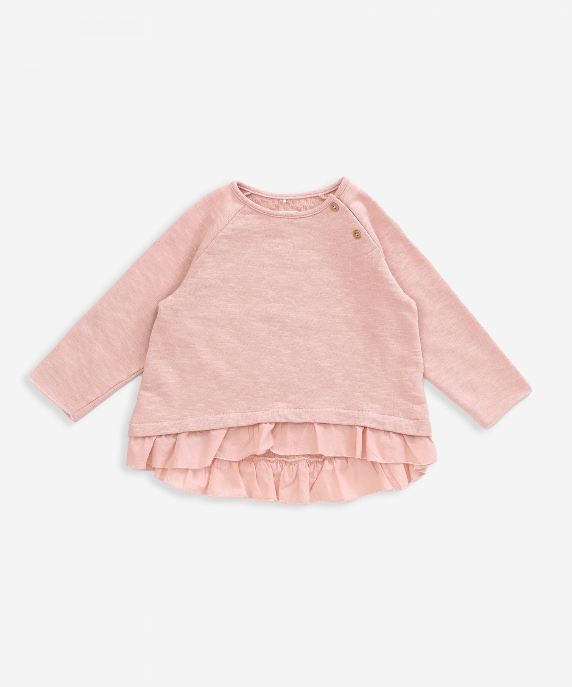 Camisola em algodão orgânico com folho | Weaving
