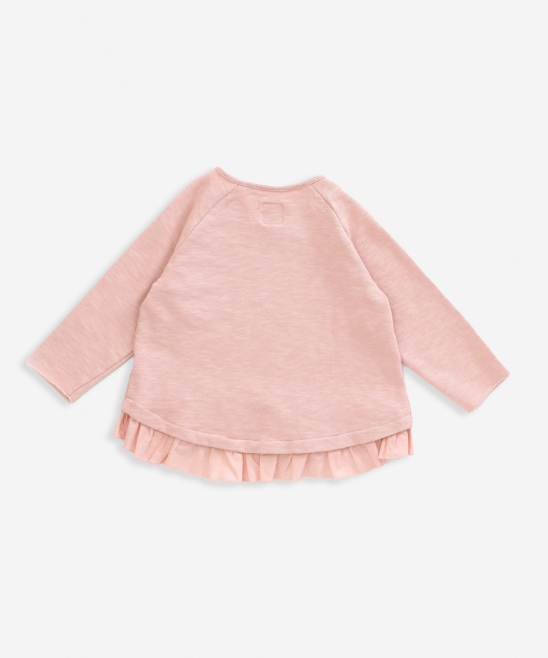 Sweater with frill