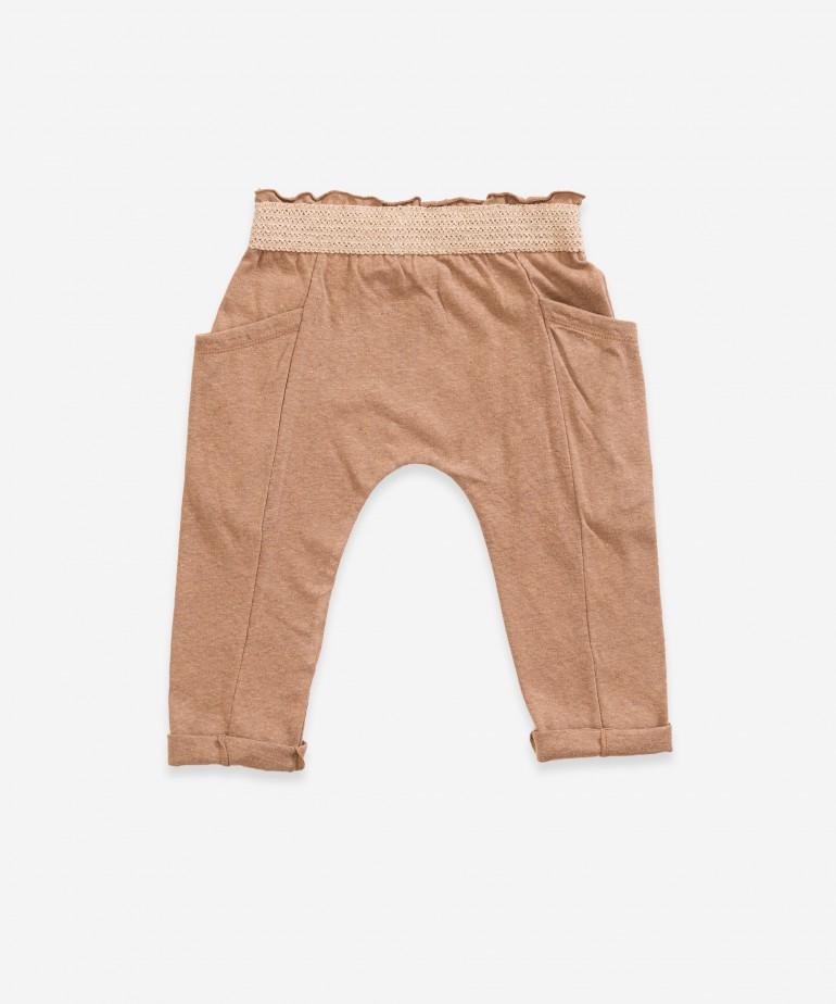 """Pantaloni con elastico effetto """"lavorato a maglia�"""