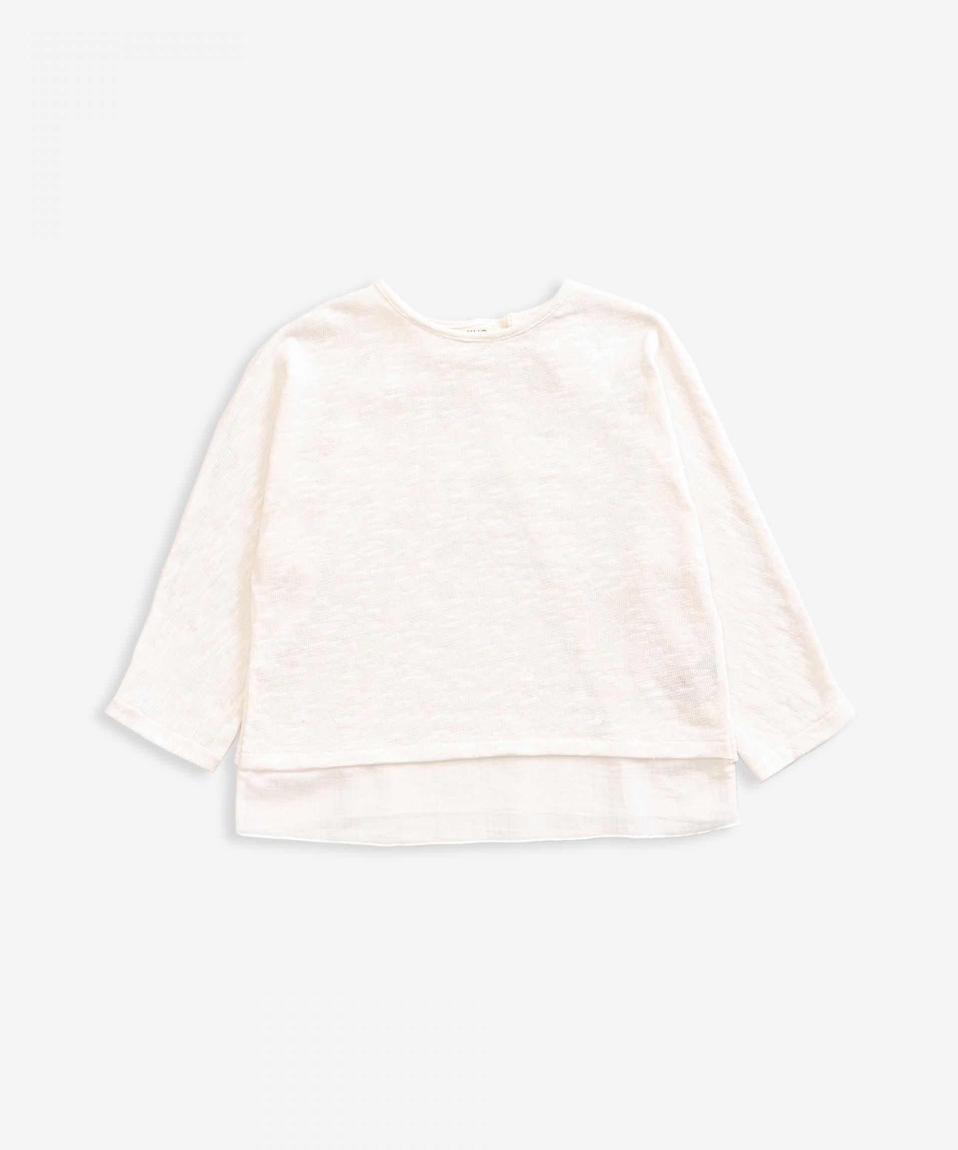Camisola em malha e tecido | Weaving