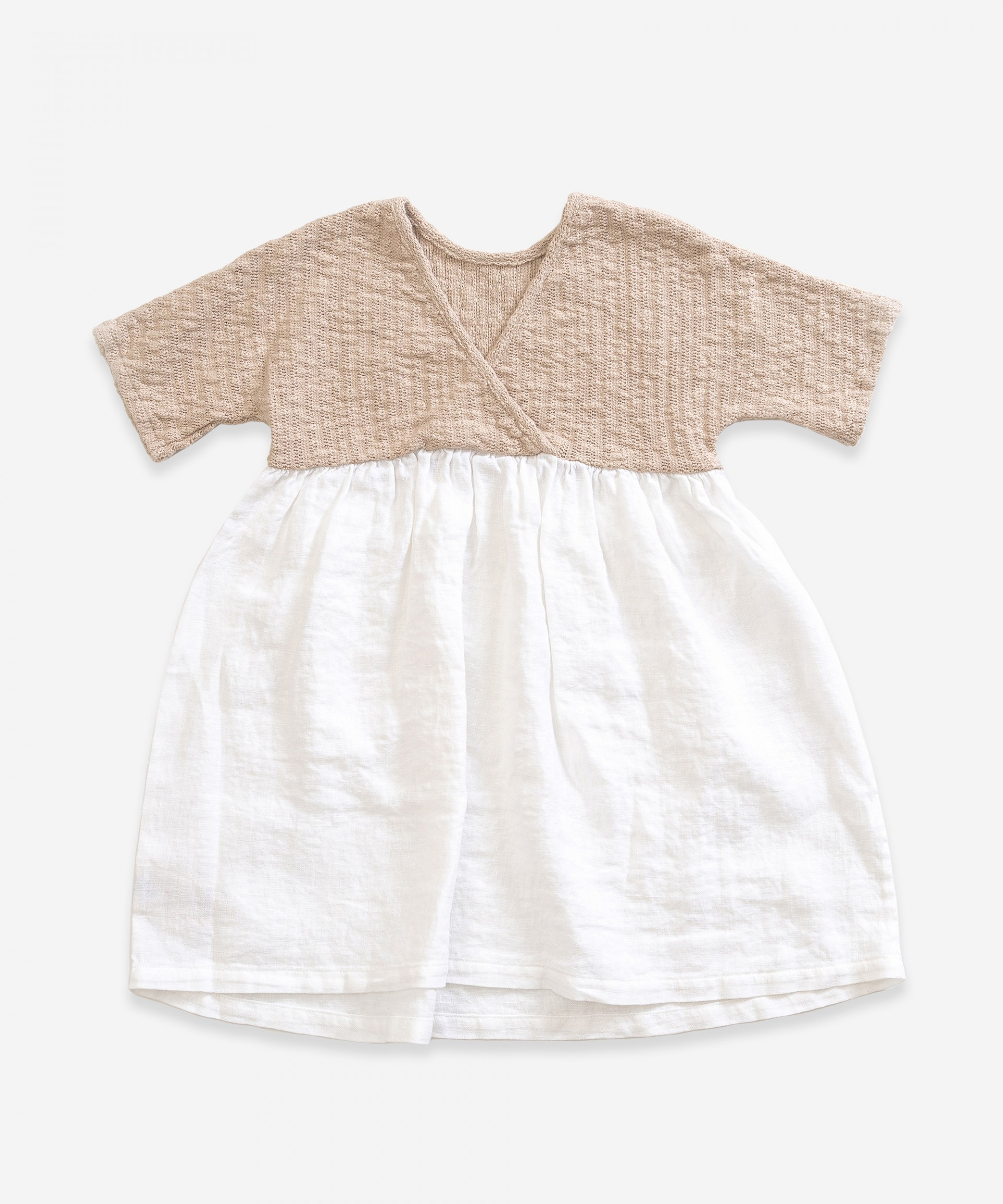 Dress with mix of linen and organic cotton | Weaving