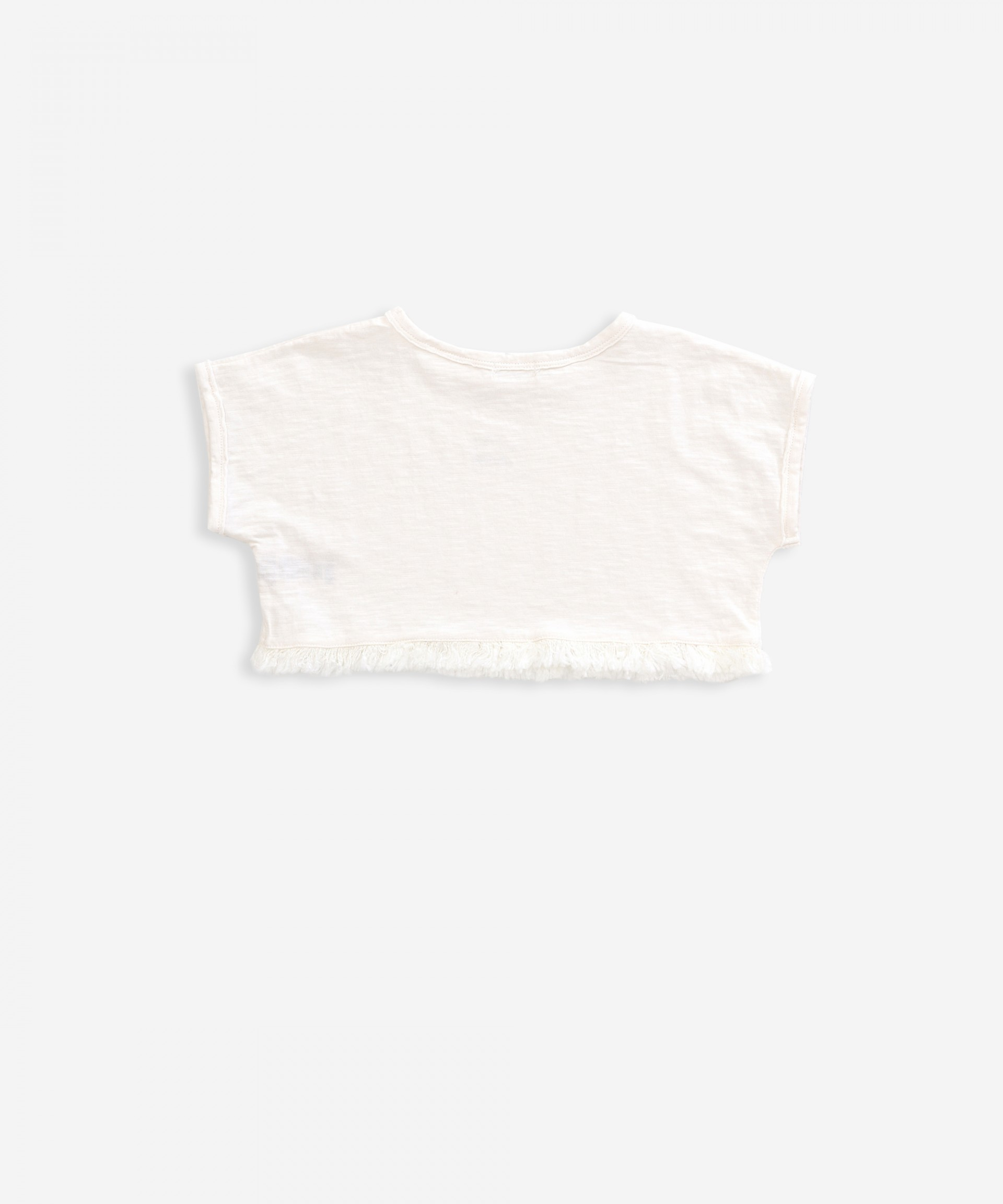 Short t-shirt in organic cotton | Weaving