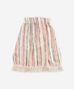 Gonna in tessuto di cotone | Weaving