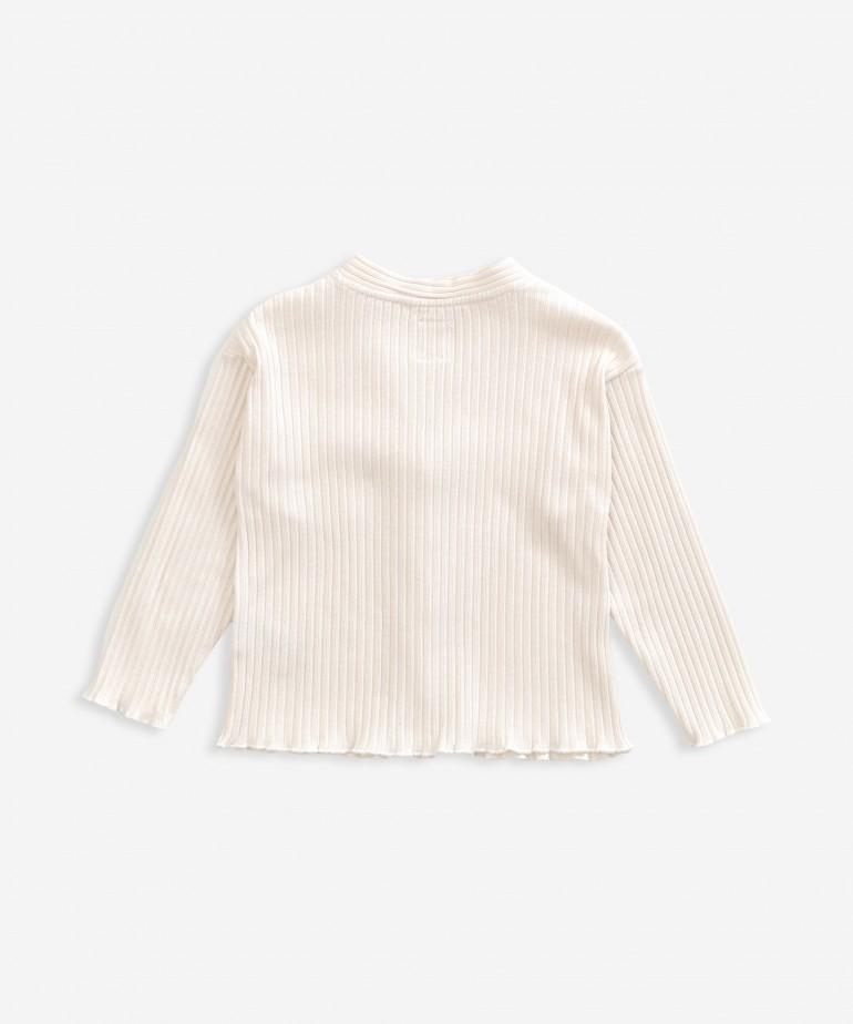 Casaco de malha em algodão orgânico