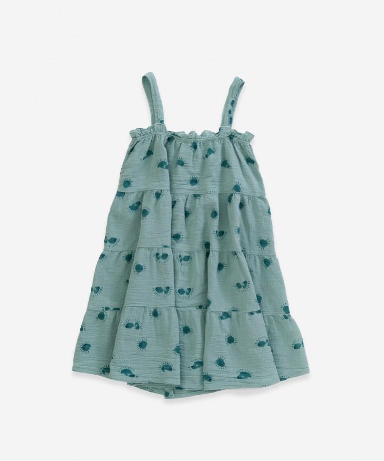 Dress with sun print