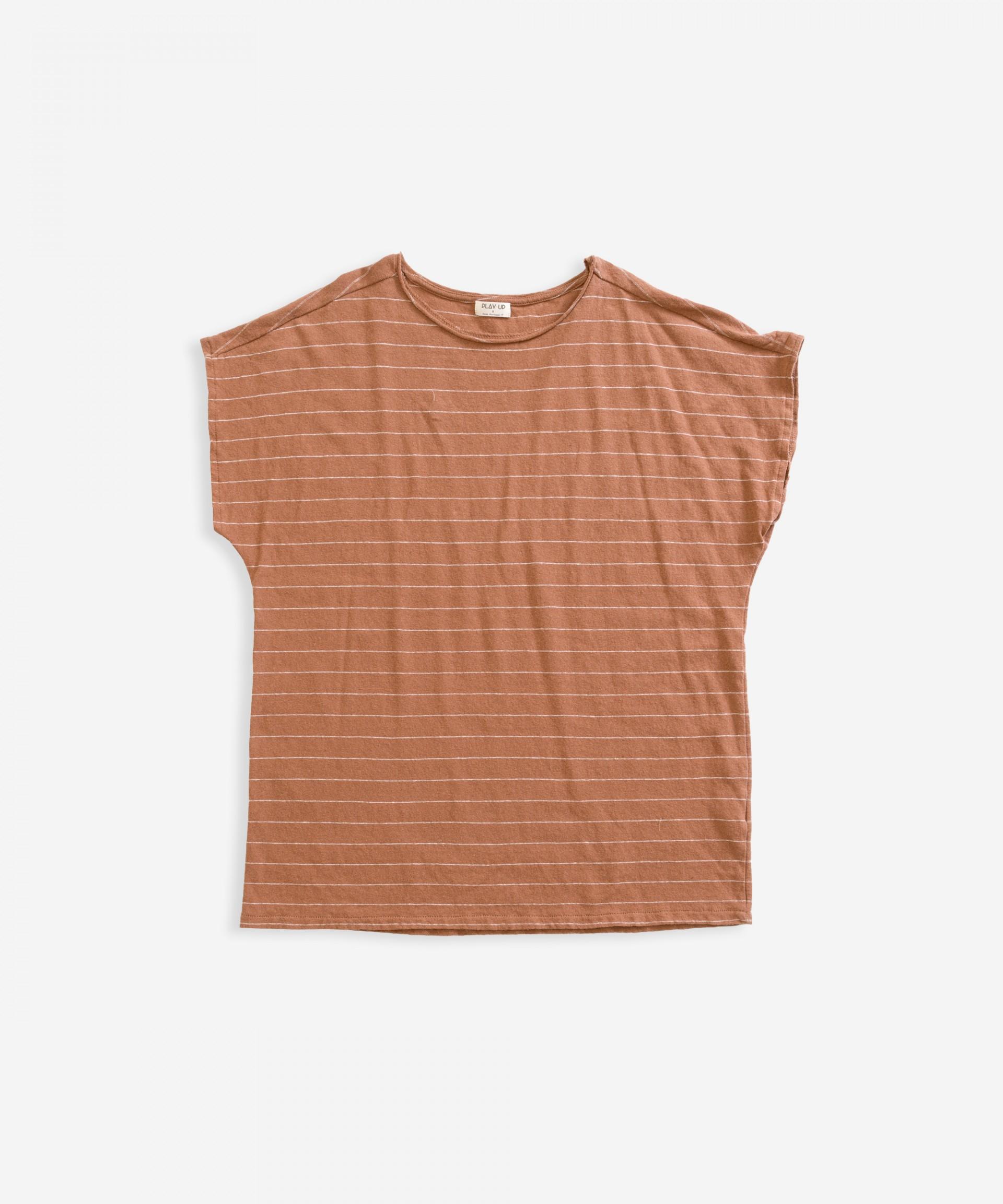 T-shirt em algodão-linho | Weaving