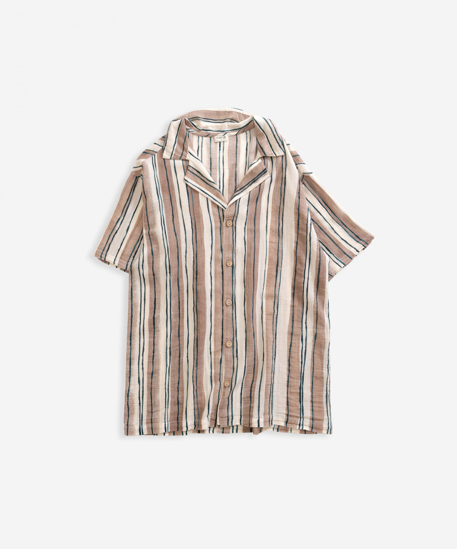 Shirt with vertical stripes | Weaving