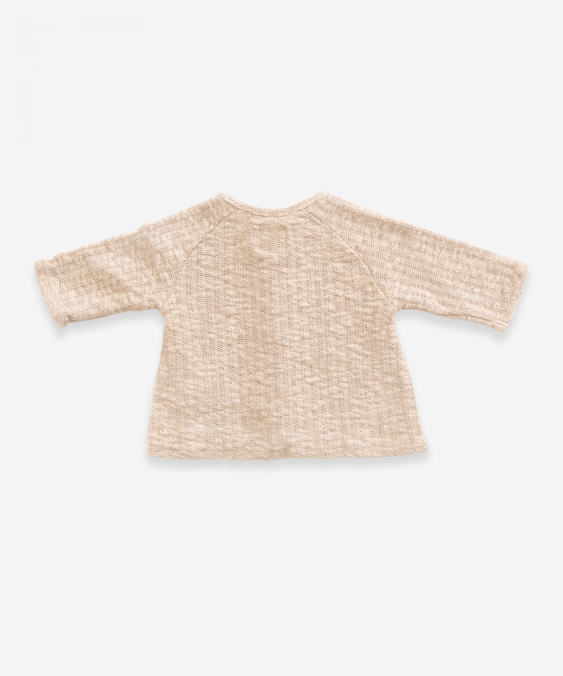 Jumper with wooden buttons | Weaving