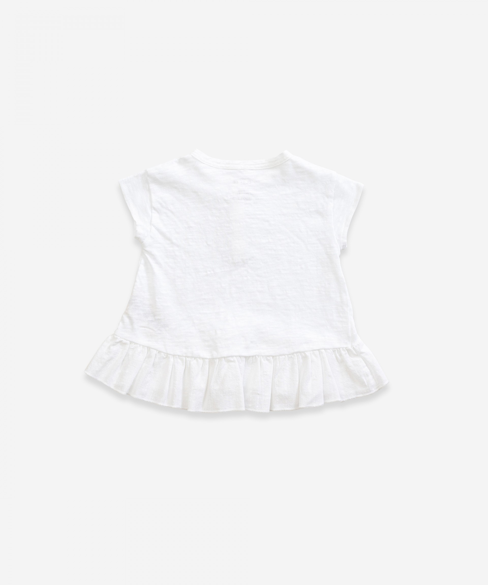 T-shirt with frill in organic cotton | Weaving | Weaving