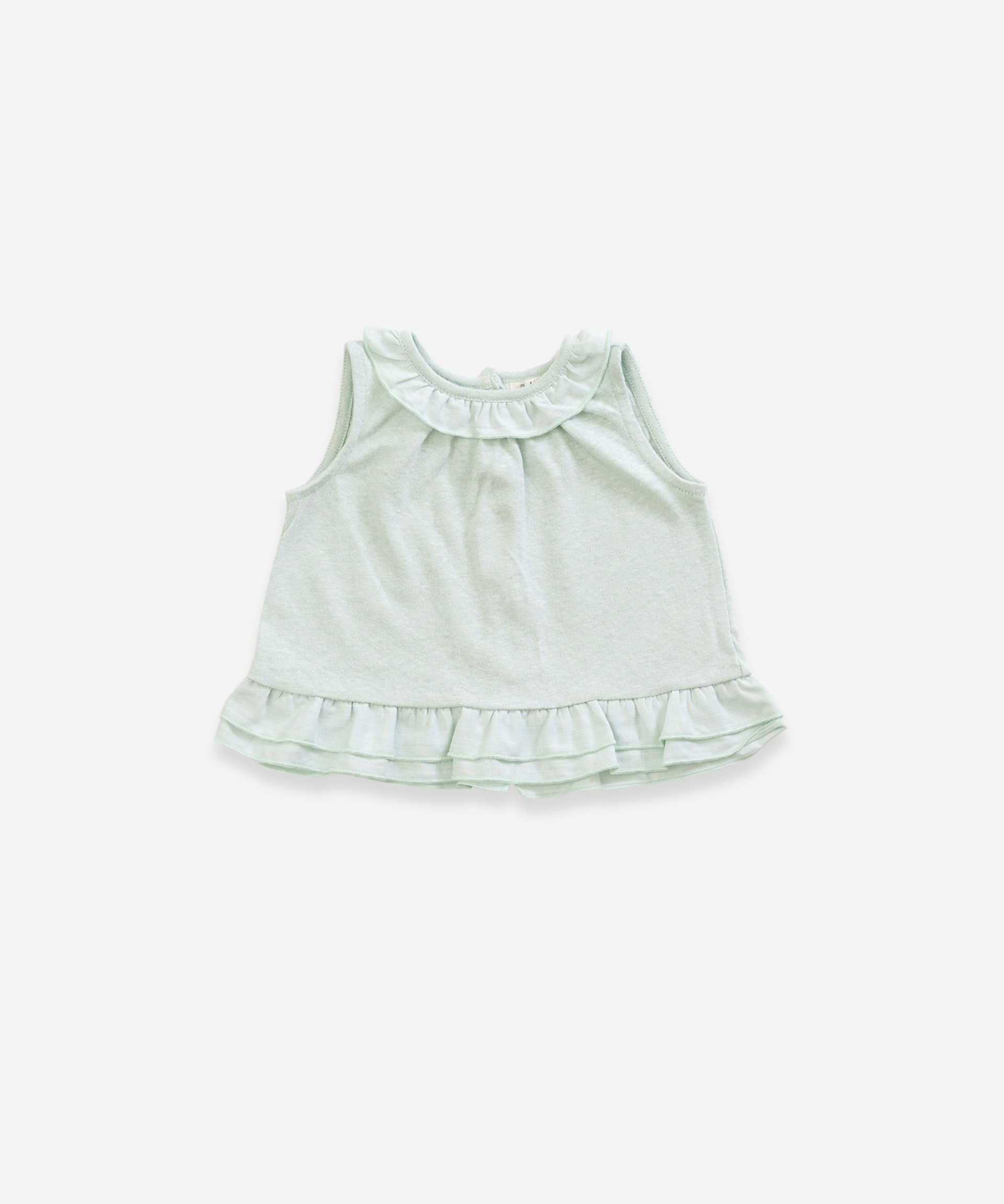 Top in organic cotton and linen | Weaving