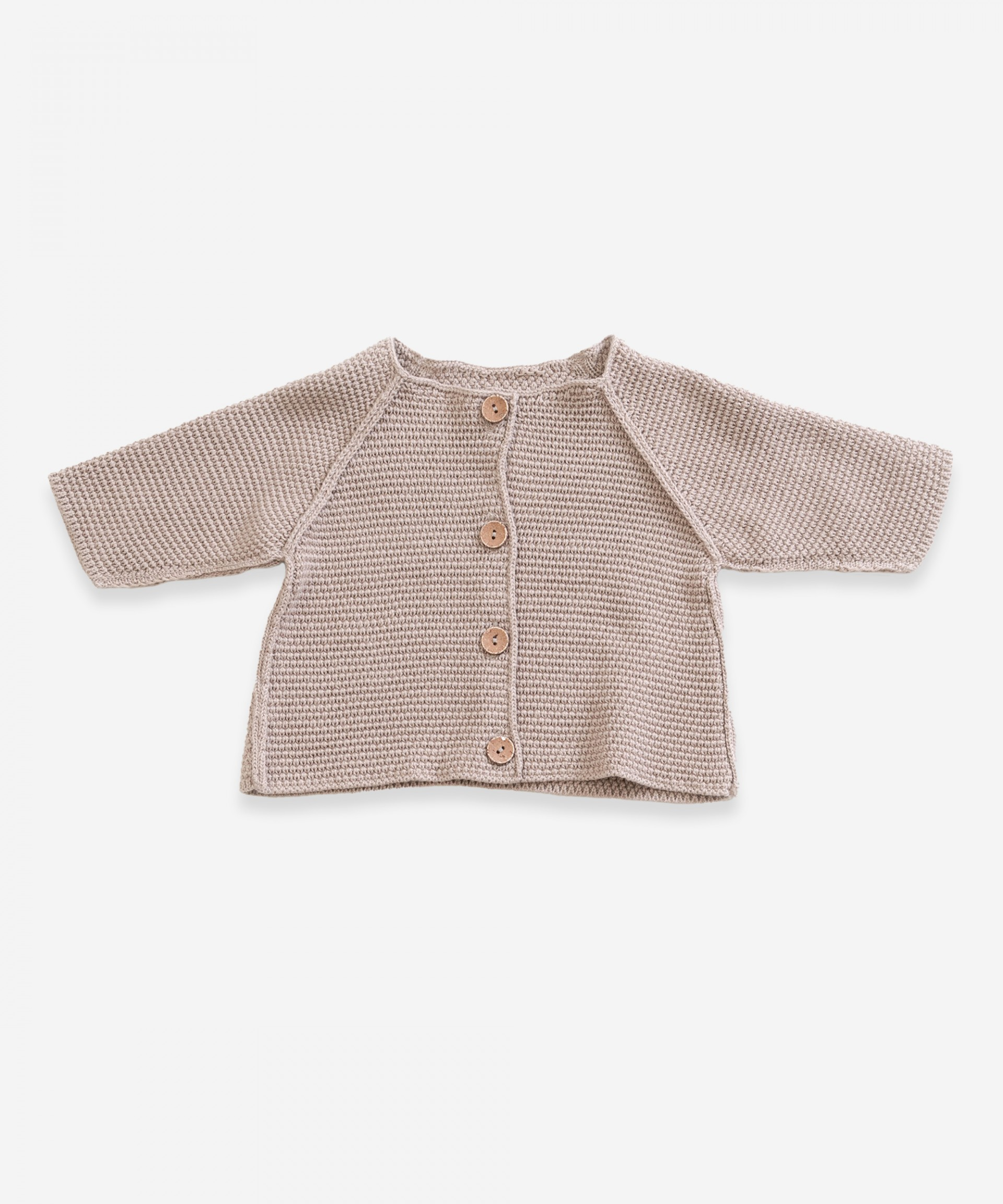 Casaco tricot com botões de resina | Weaving