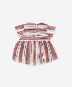 Cotton tunic with striped print | Weaving