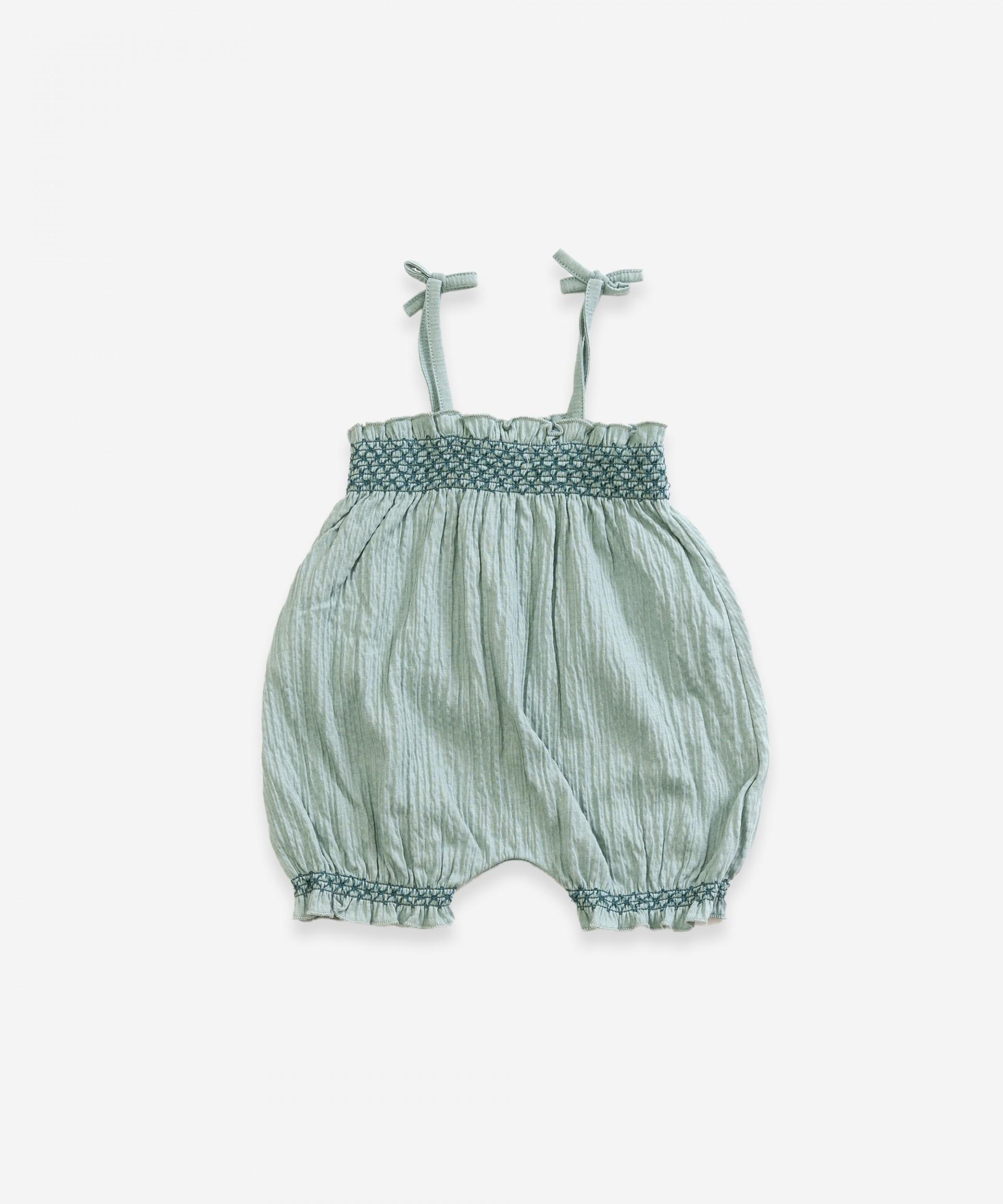 Cotton jumpsuit | Weaving